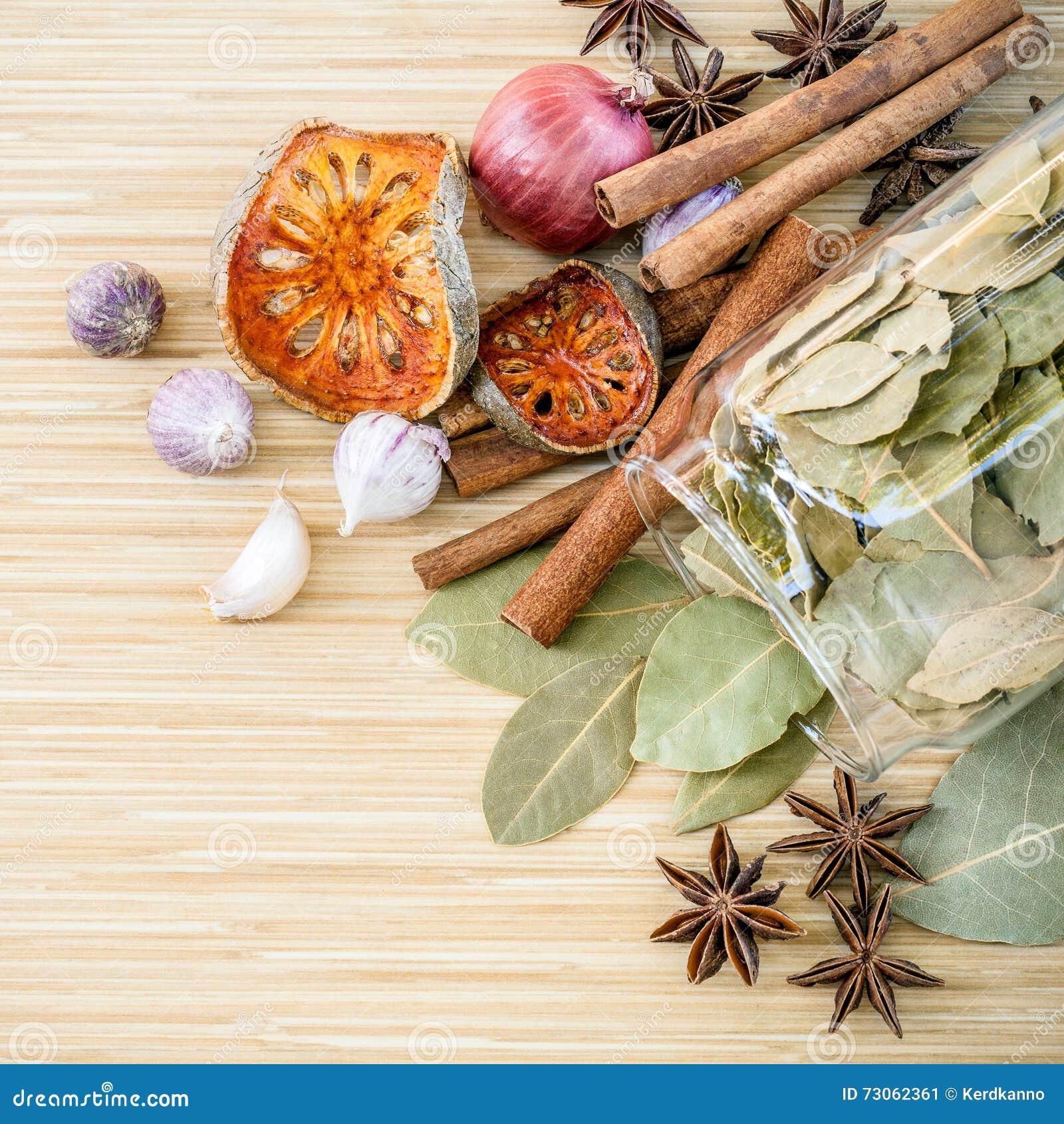 Κατάταξη του ταϊλανδικού γούστου καρυκευμάτων συστατικών μαγειρέματος τροφίμων