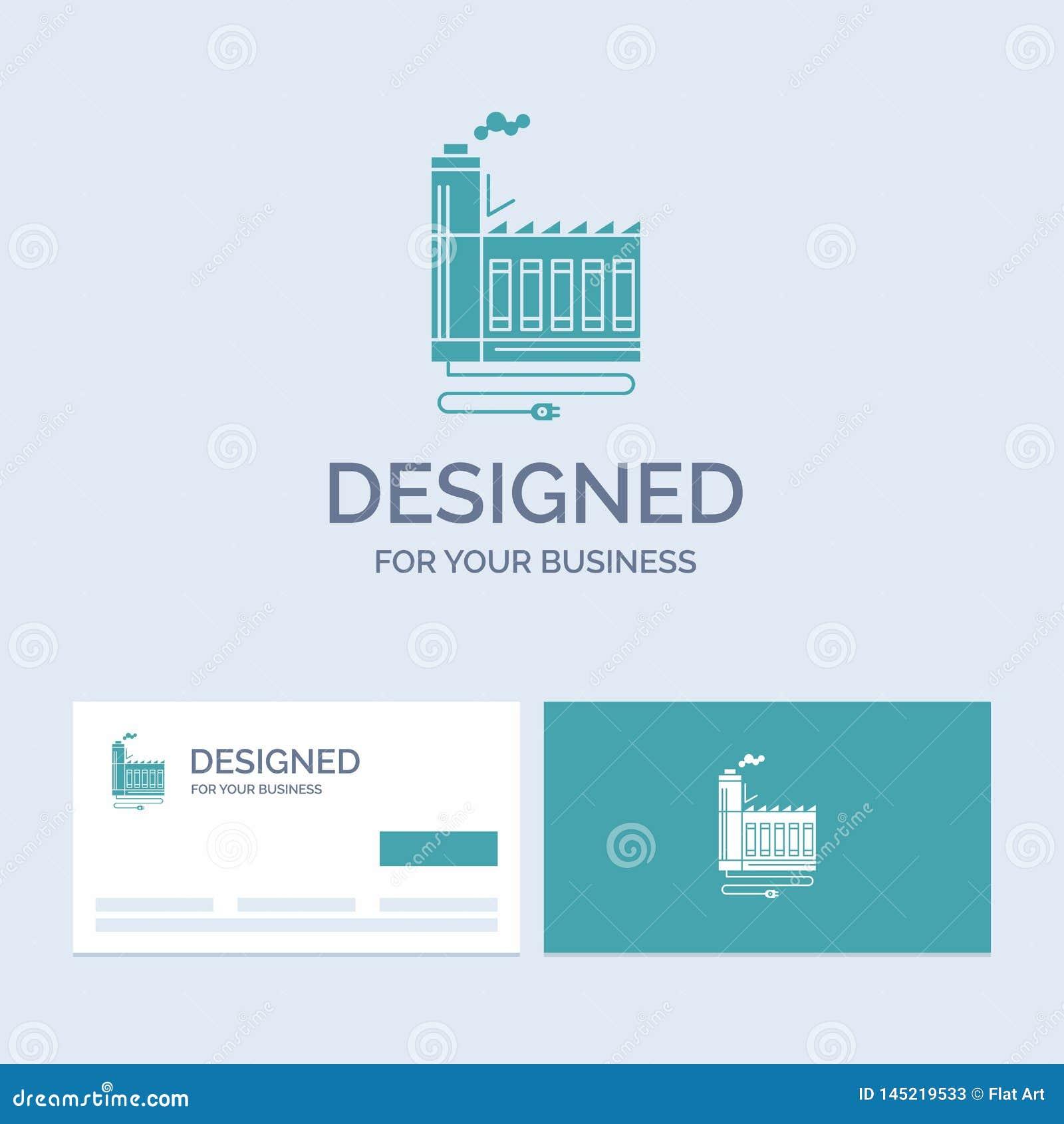 Κατανάλωση, πόρος, ενέργεια, εργοστάσιο, σύμβολο εικονιδίων Glyph επιχειρησιακών λογότυπων κατασκευής για την επιχείρησή σας r
