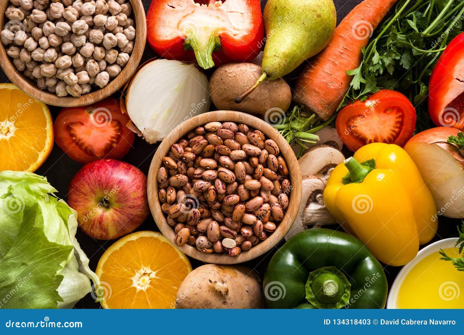 κατανάλωση υγιής Μεσόγειος σιτηρεσίου Καρπός και λαχανικά