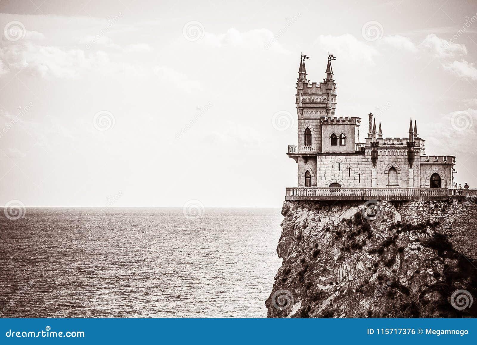 Καταπιείτε τη φωλιά Castle ` s σε έναν βράχο yalta Gaspra Κριμαία