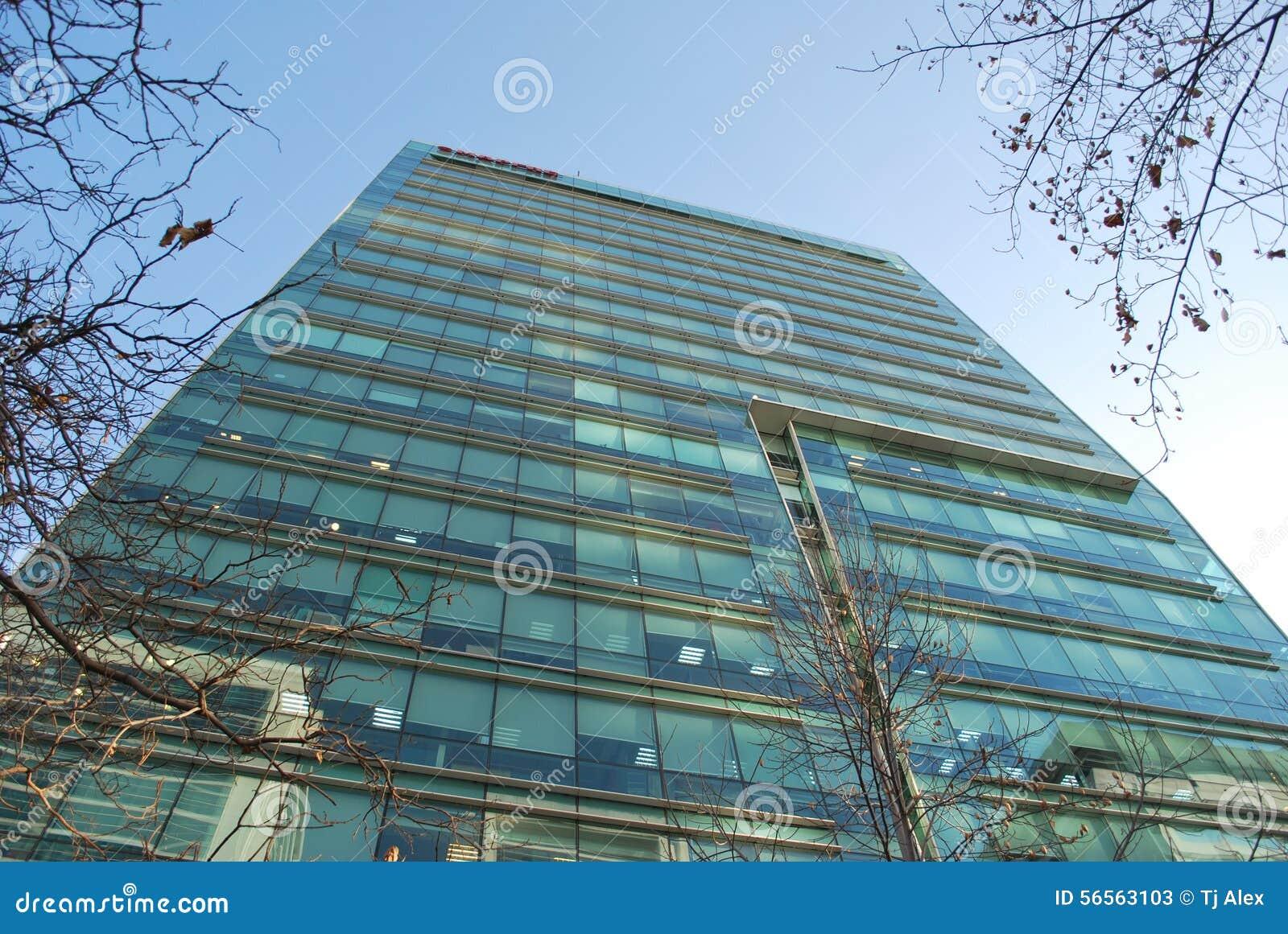Download Καταπληκτικοί ουρανοξύστες στο Σαντιάγο, Χιλή Στοκ Εικόνα - εικόνα από ορόσημο, σύννεφα: 56563103