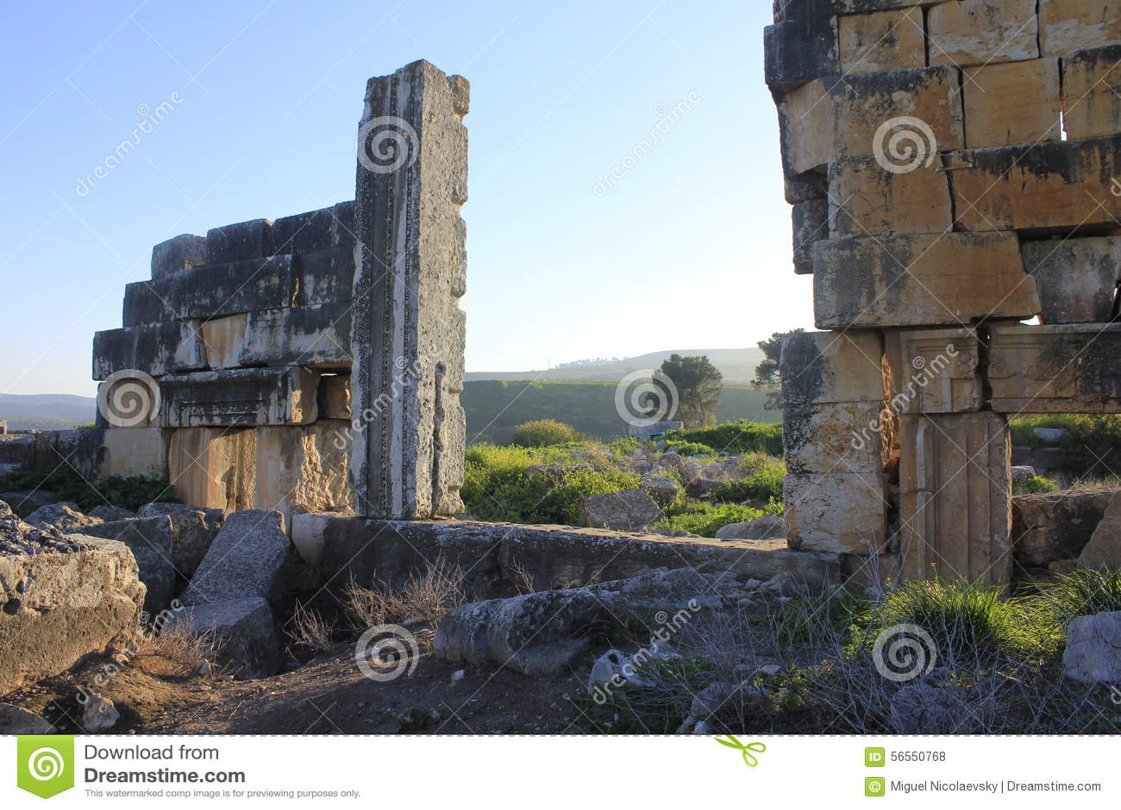 Download Καταστροφές της αρχαίας πόλης βιβλικού Kedesh στο Ισραήλ Στοκ Εικόνες - εικόνα από λίβανος, ancientness: 56550768
