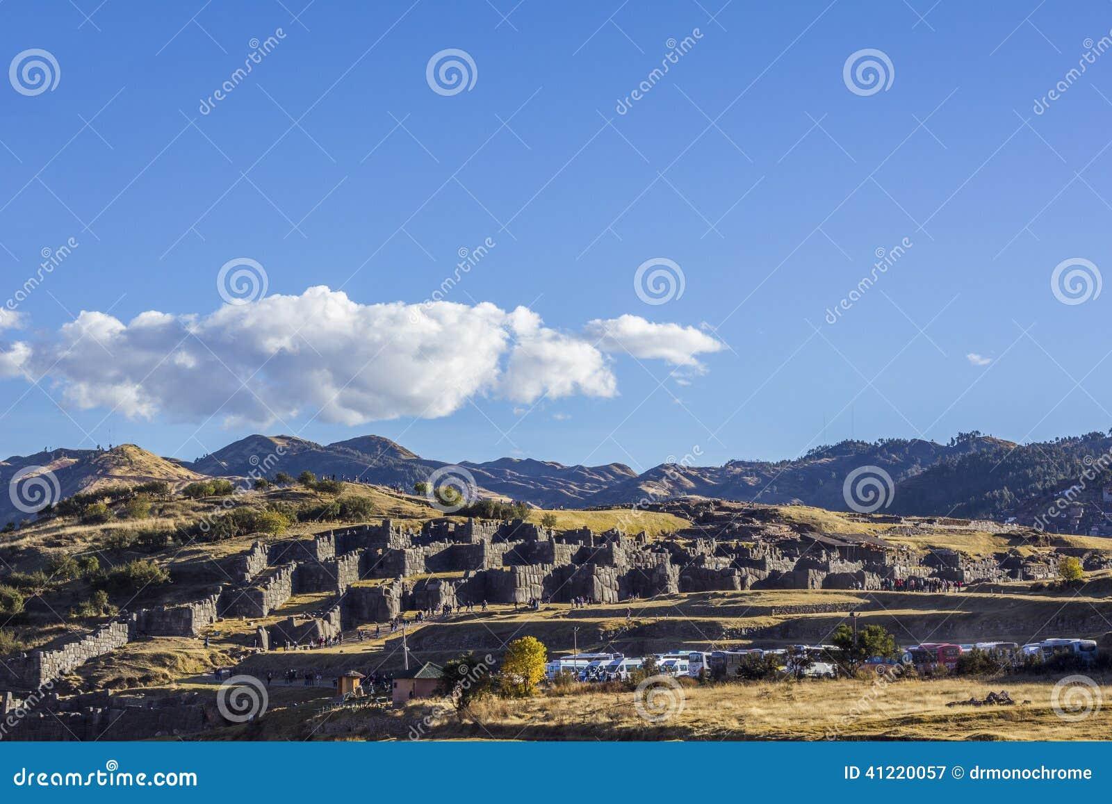 Καταστροφές Cuzco Περού Sacsayhuaman