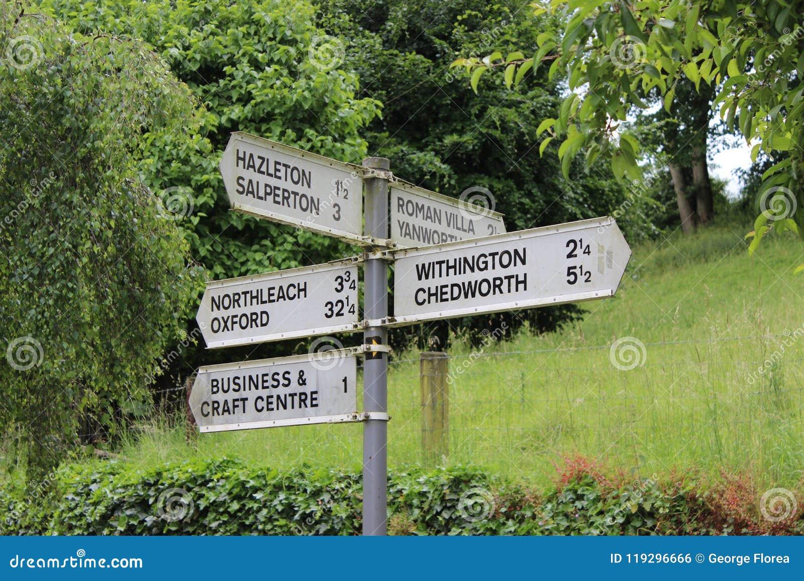 Κατευθύνσεις, όπου κατευθύνσεις Σημάδια οδών