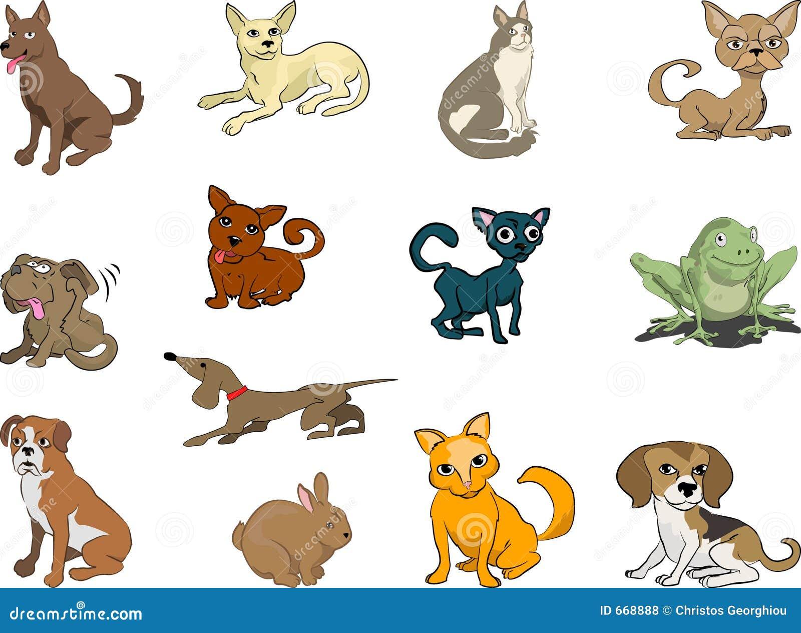 κατοικίδια ζώα σκυλιών γατών