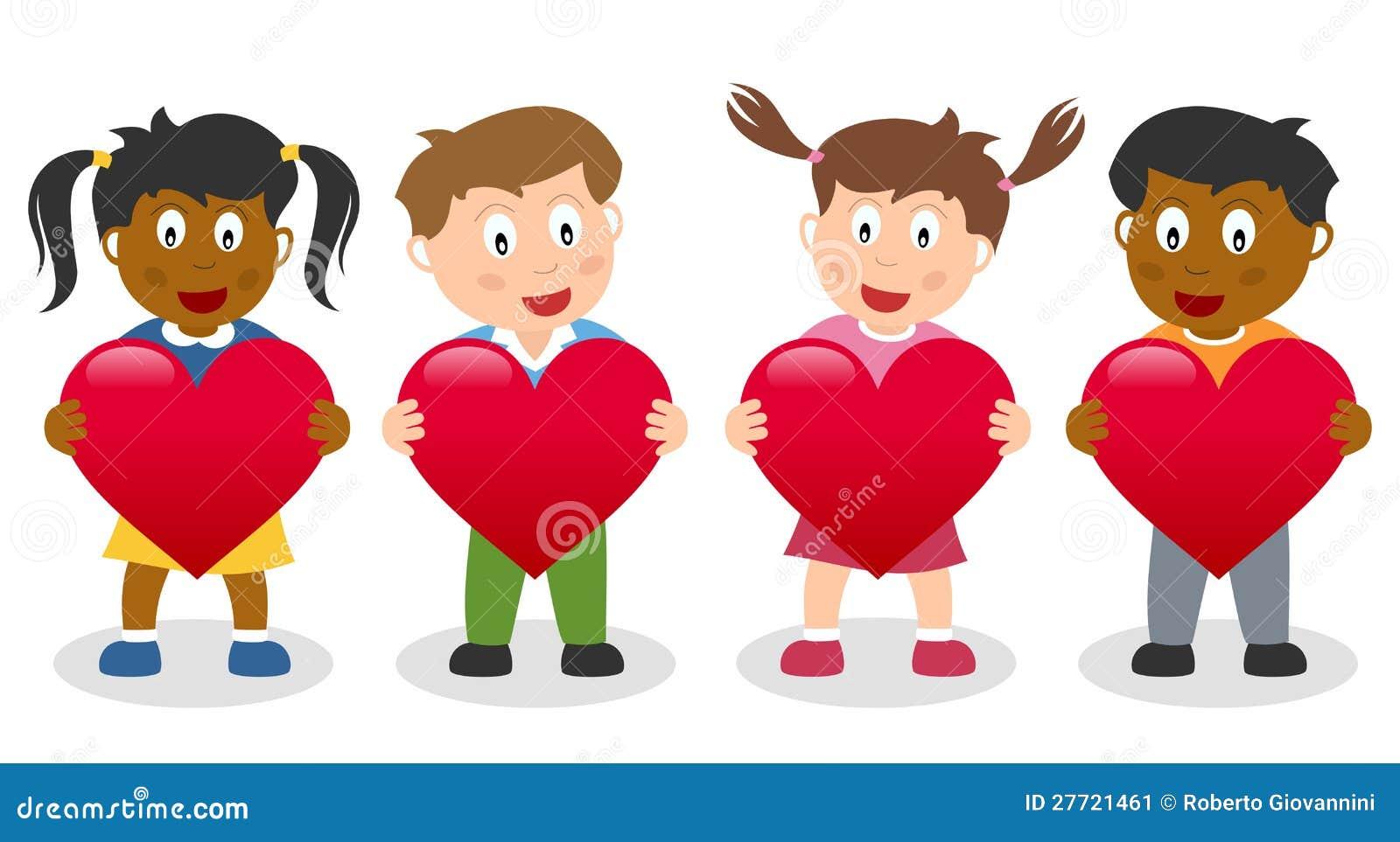 Κατσίκια που κρατούν μια κόκκινη καρδιά