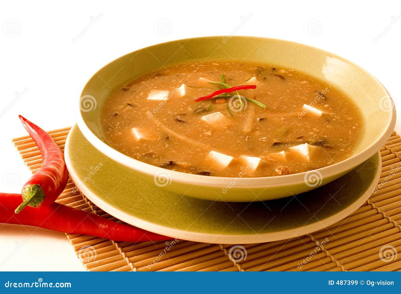 καυτή σούπα ξινή