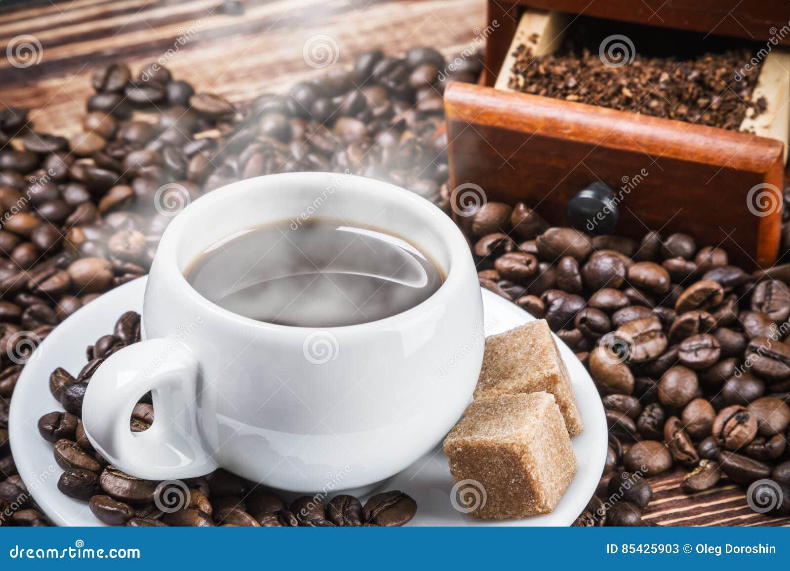 καυτός πίνακας καφέ