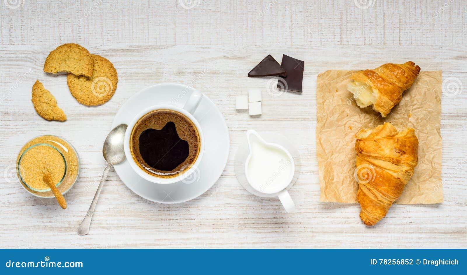 Καφές, σοκολάτα και Croissant