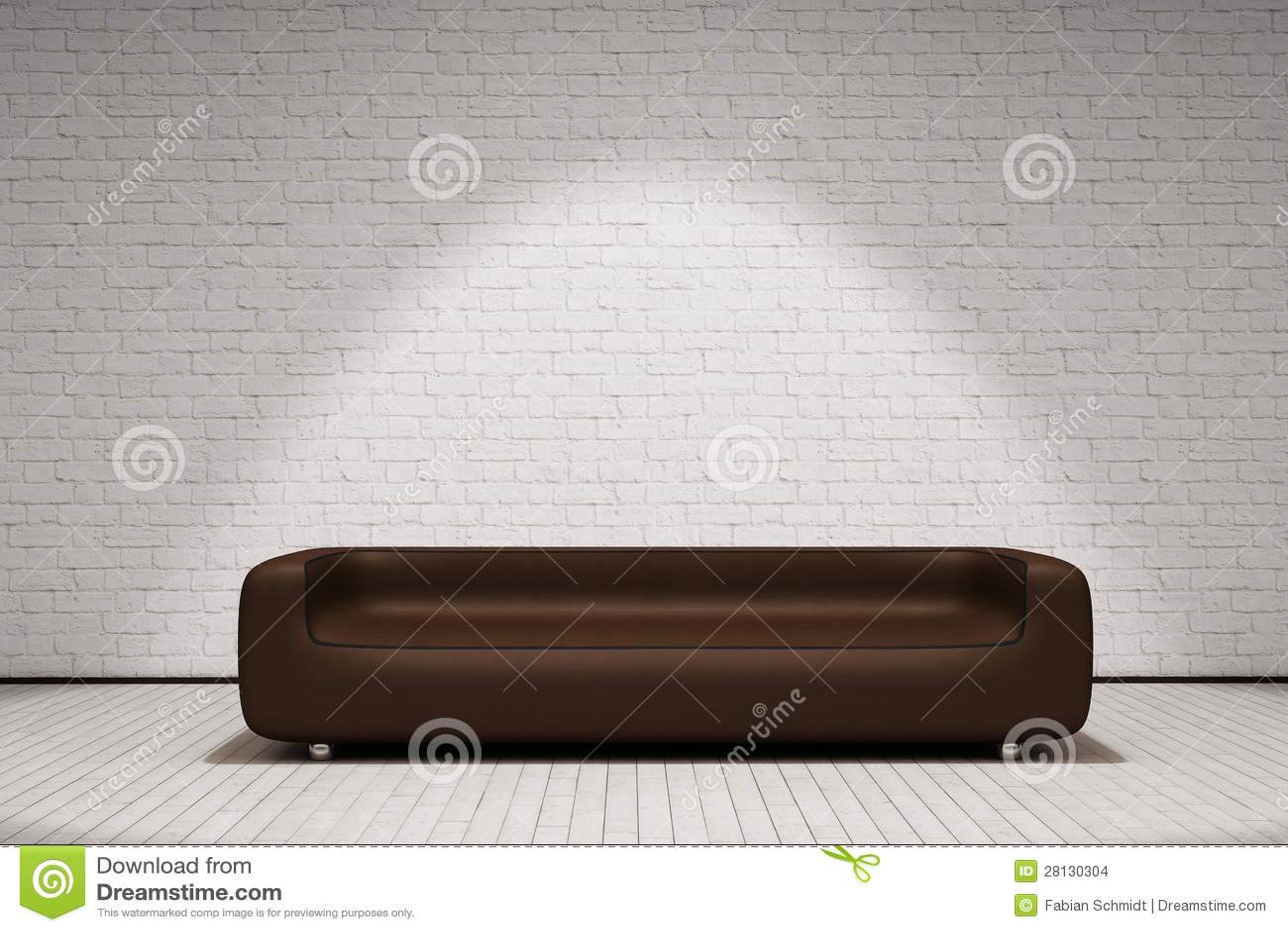 Καφετής καναπές δέρματος