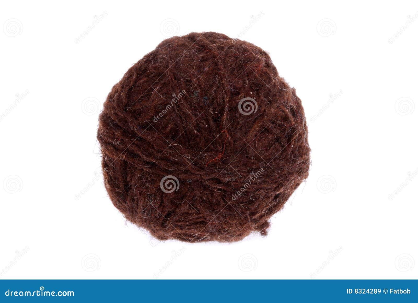 καφετί μαλλί σφαιρών