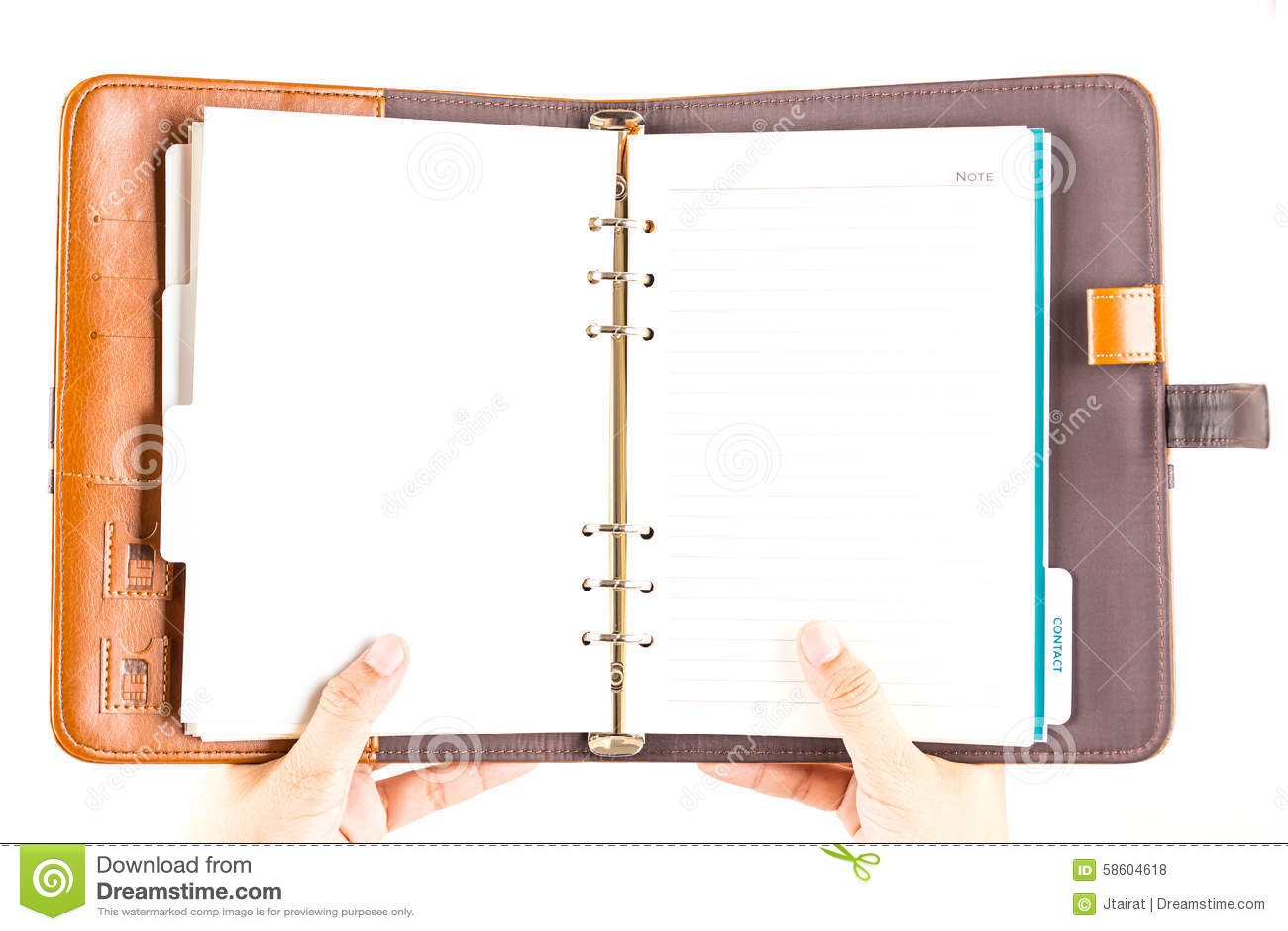 Καφετί πιάσιμο δέρματος ημερολογίων με το χέρι