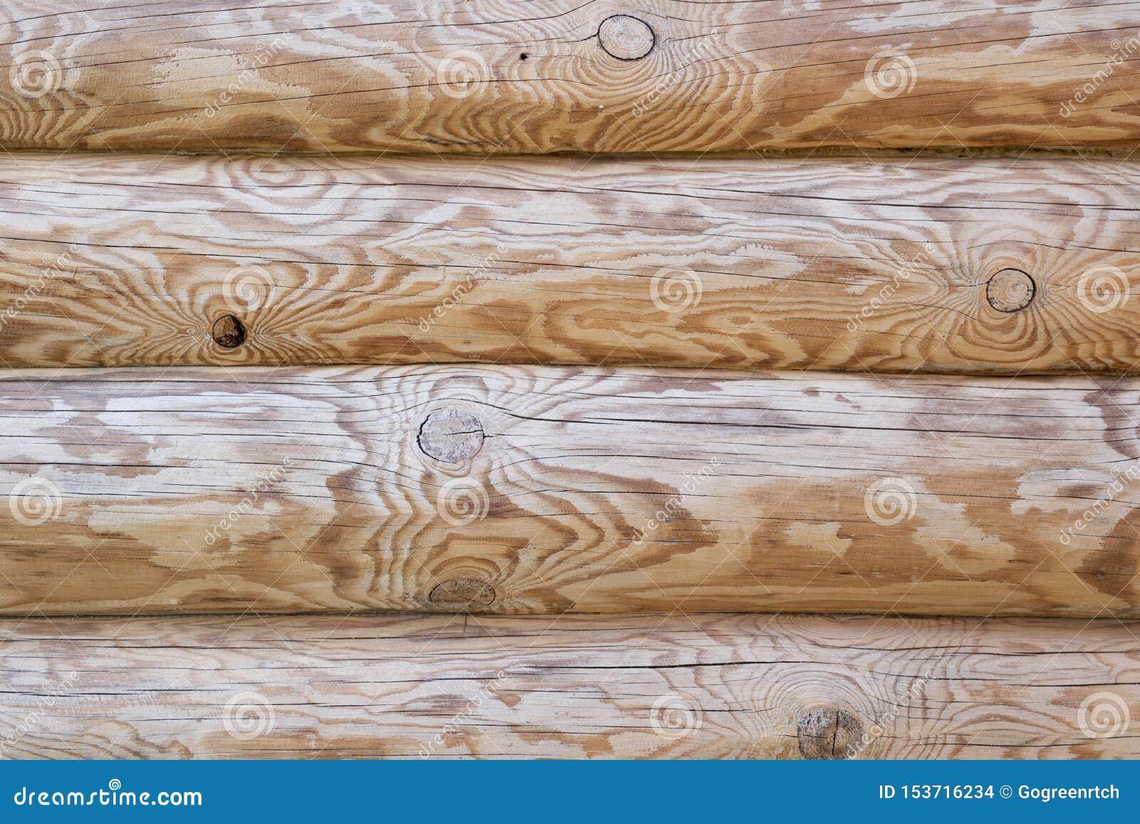 Καφετιά ξύλινη σύσταση από ολόκληρους τους κορμούς