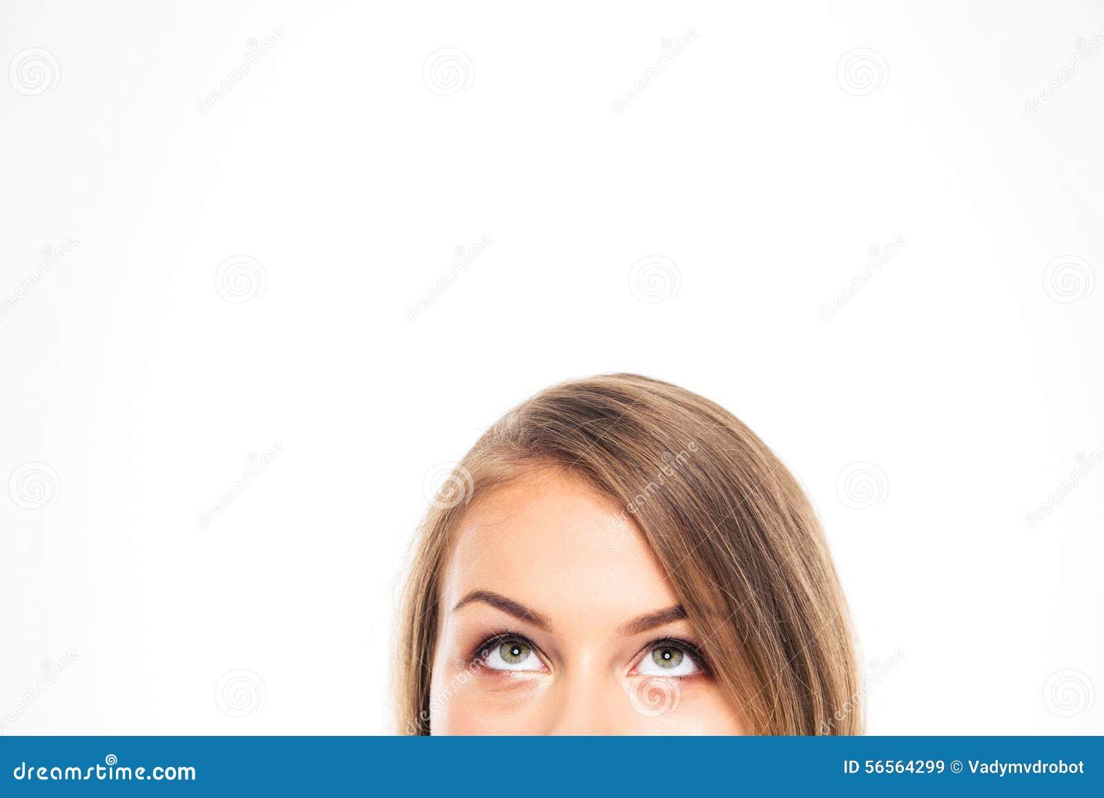 Download Καλλιεργημένη εικόνα μιας νέας γυναίκας που ανατρέχει Στοκ Εικόνα - εικόνα από καυκάσιος, αντίγραφο: 56564299