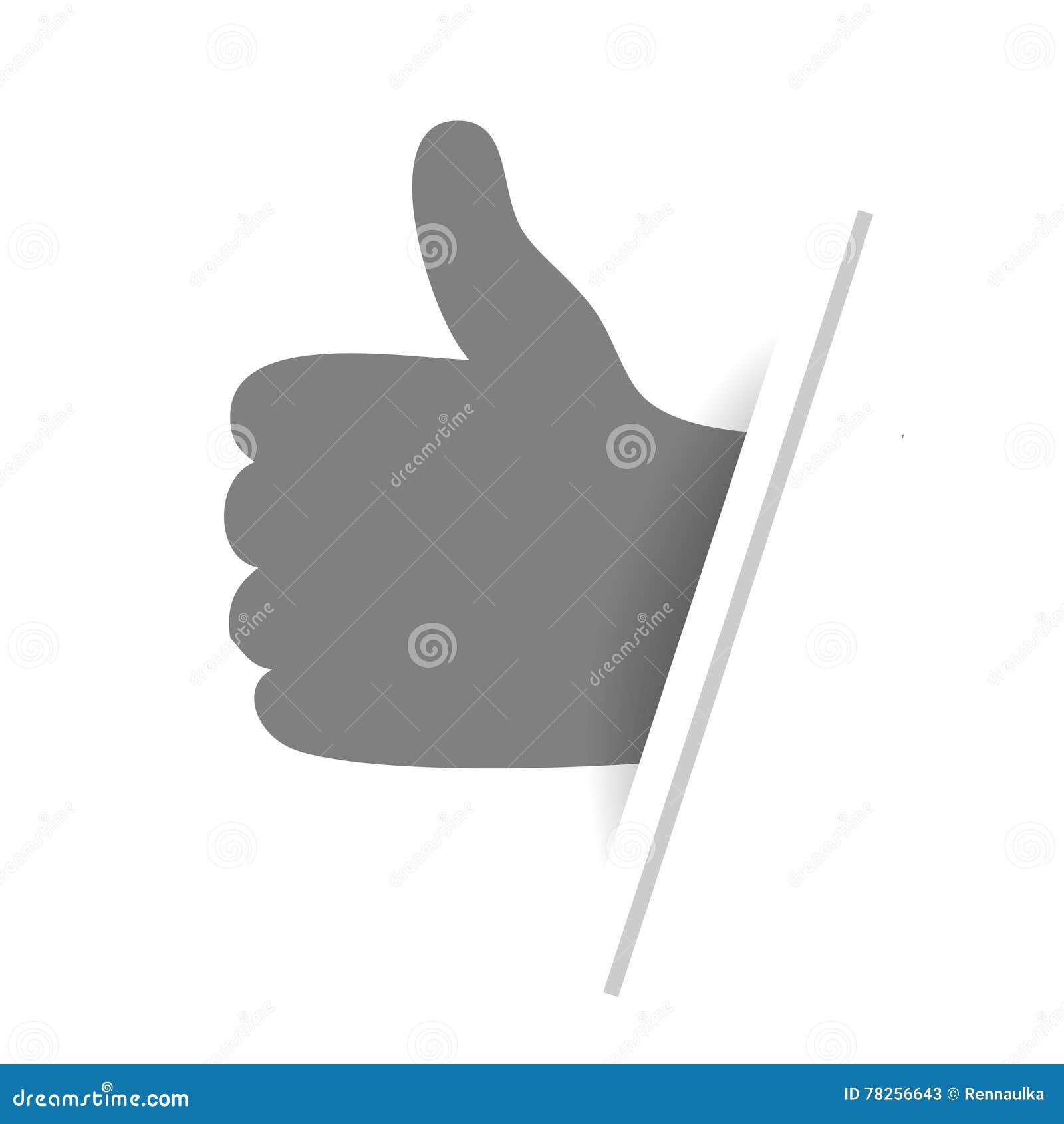 Καλύτερο σύμβολο επιλογής - χειρονομία χεριών Μονοχρωματικό σχέδιο