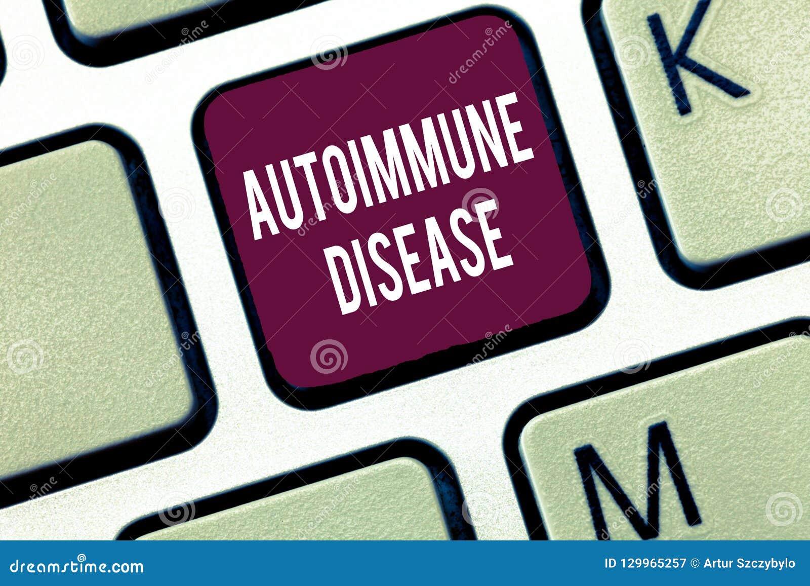 Κείμενο γραψίματος λέξης αυτοάνοση ασθένεια Επιχειρησιακή έννοια για τα ασυνήθιστα αντισώματα που στοχεύουν στους ιστούς σωμάτων