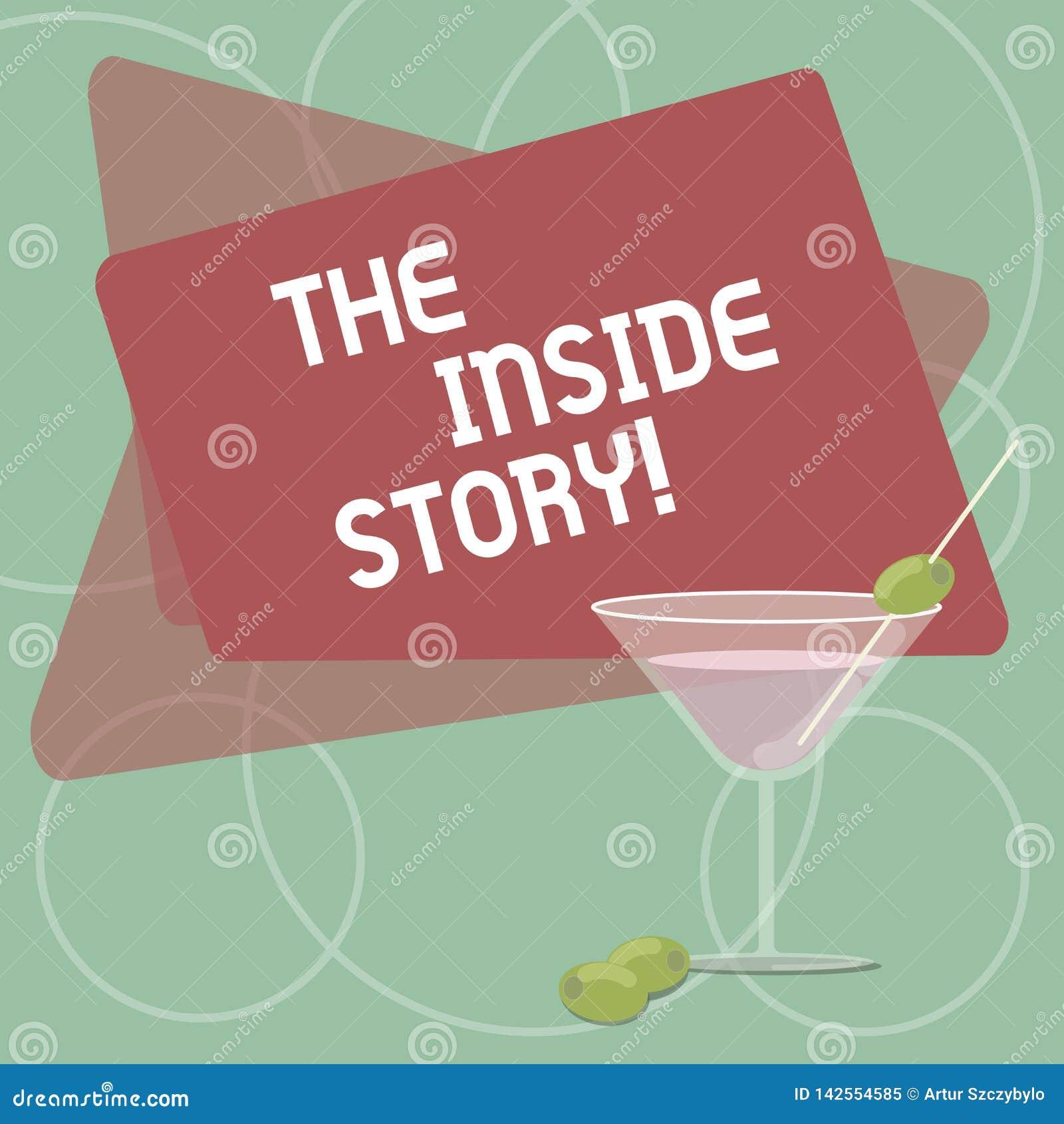 Κείμενο γραψίματος λέξης η εσωτερική ιστορία Επιχειρησιακή έννοια για τις πληροφορίες που είναι γνωστή μόνο παρουσίαση σχετική πο
