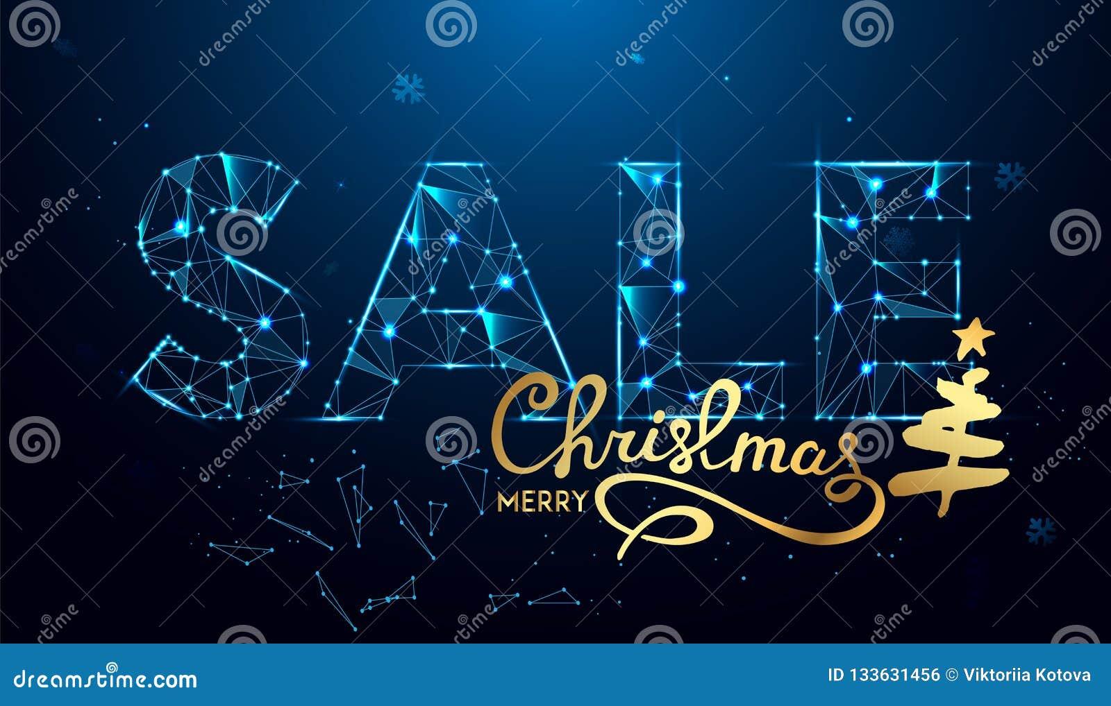 Κείμενο πώλησης Χριστουγέννων για την προώθηση με τις διακοσμήσεις στο μπλε υπόβαθρο