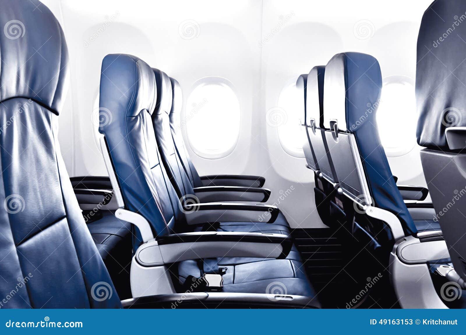 Κενά καθίσματα αεροπλάνων - οικονομία ή κατηγορία λεωφορείων