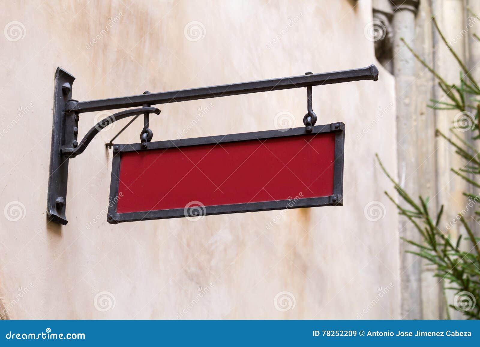 Κενή προτύπων πινακίδα οδών σιδήρου εκλεκτής ποιότητας
