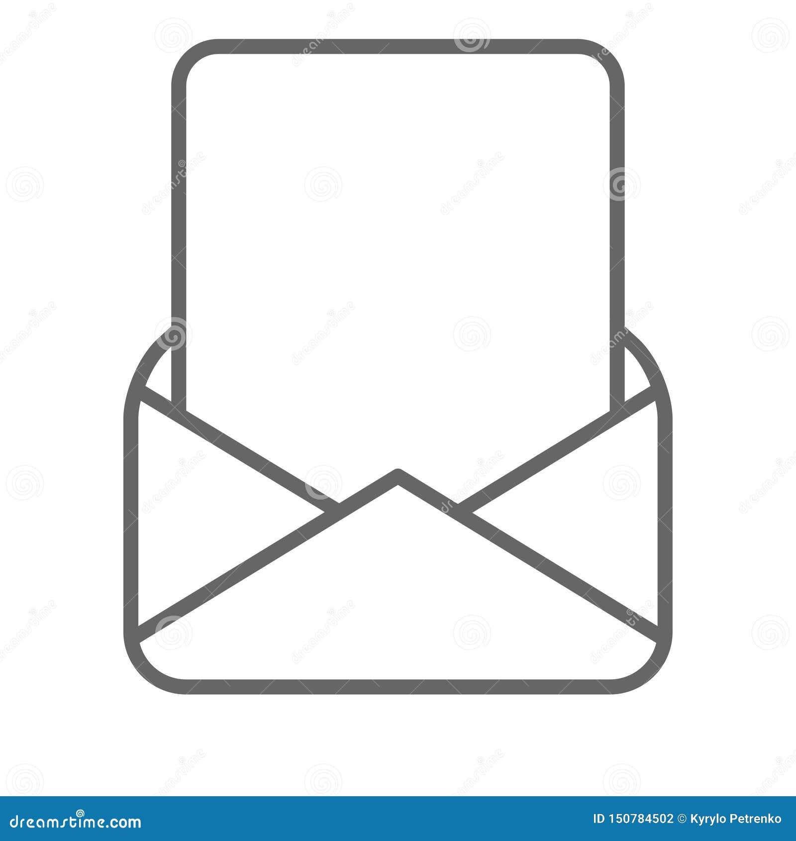 Κενή σελίδα στο μαύρο λευκό φακέλων ταχυδρομείου