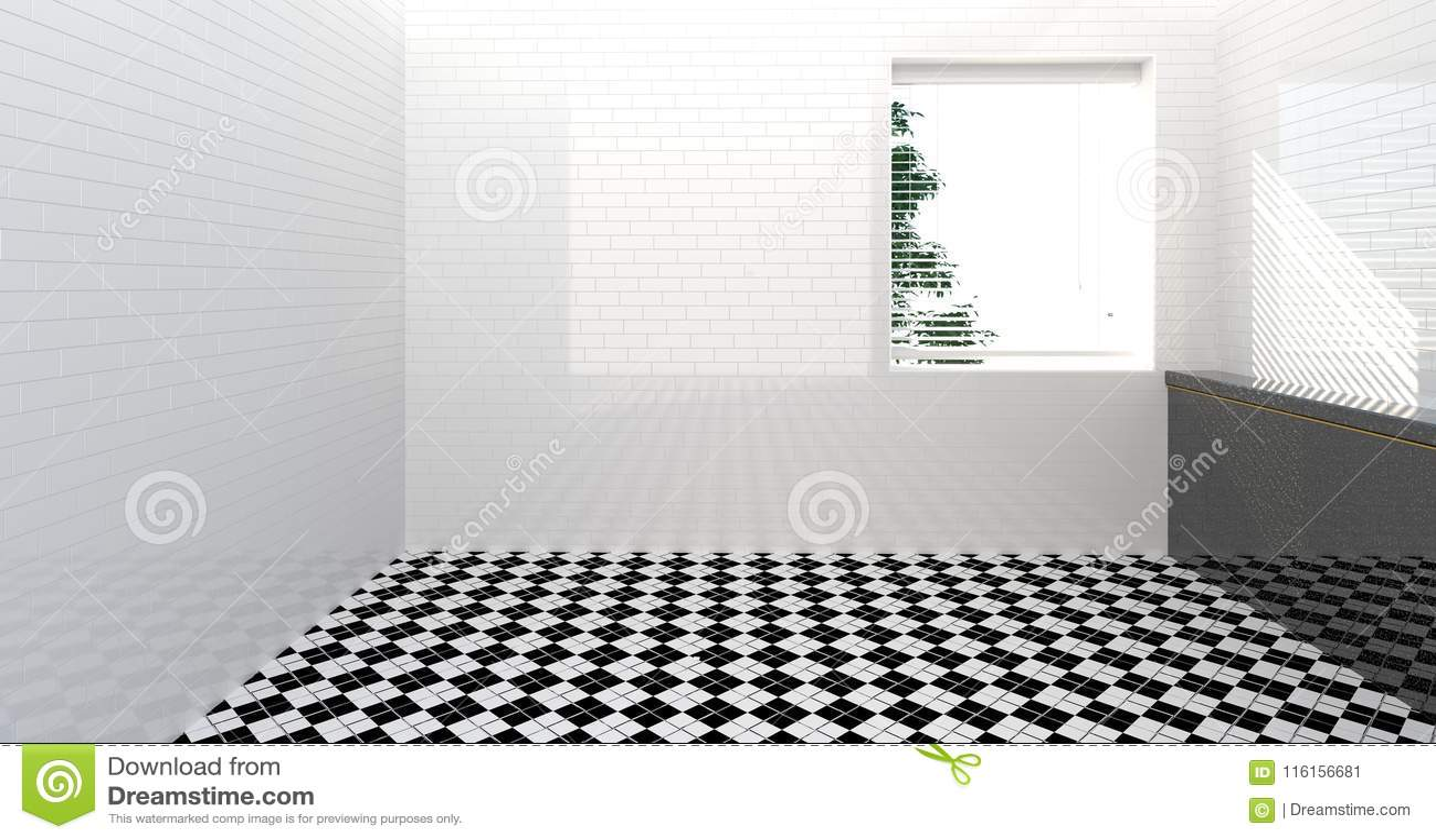 Κενή τουαλέτα, ντους, εσωτερικό λουτρών, ντους, δωματίων άσπρο υπόβαθρο νεροχυτών εγχώριων σύγχρονο λουτρών απεικόνισης τοίχων τρ