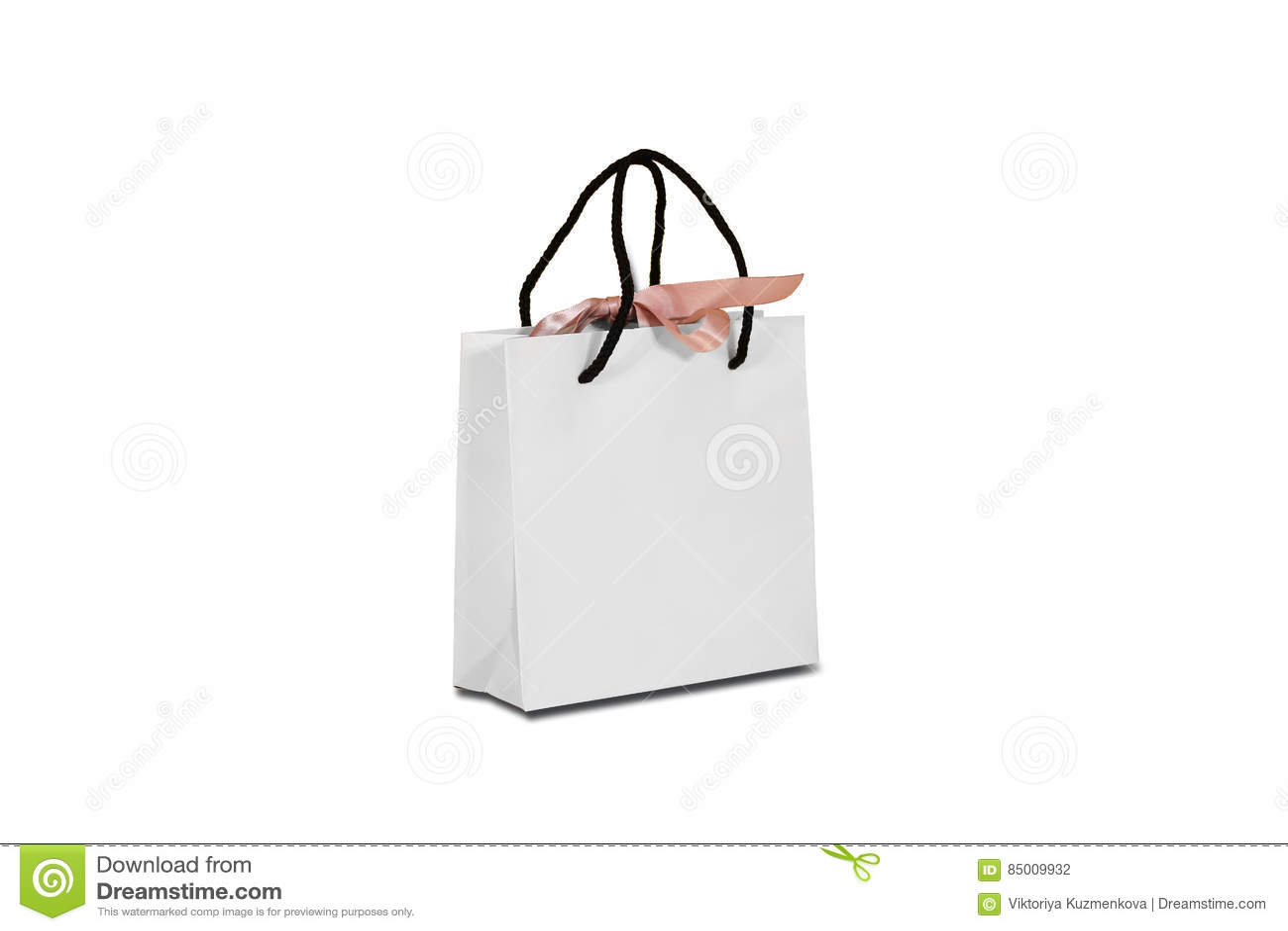 Κενή τσάντα δώρων της Λευκής Βίβλου με μια χλεύη τόξων που στέκεται επάνω σε ένα ξύλο