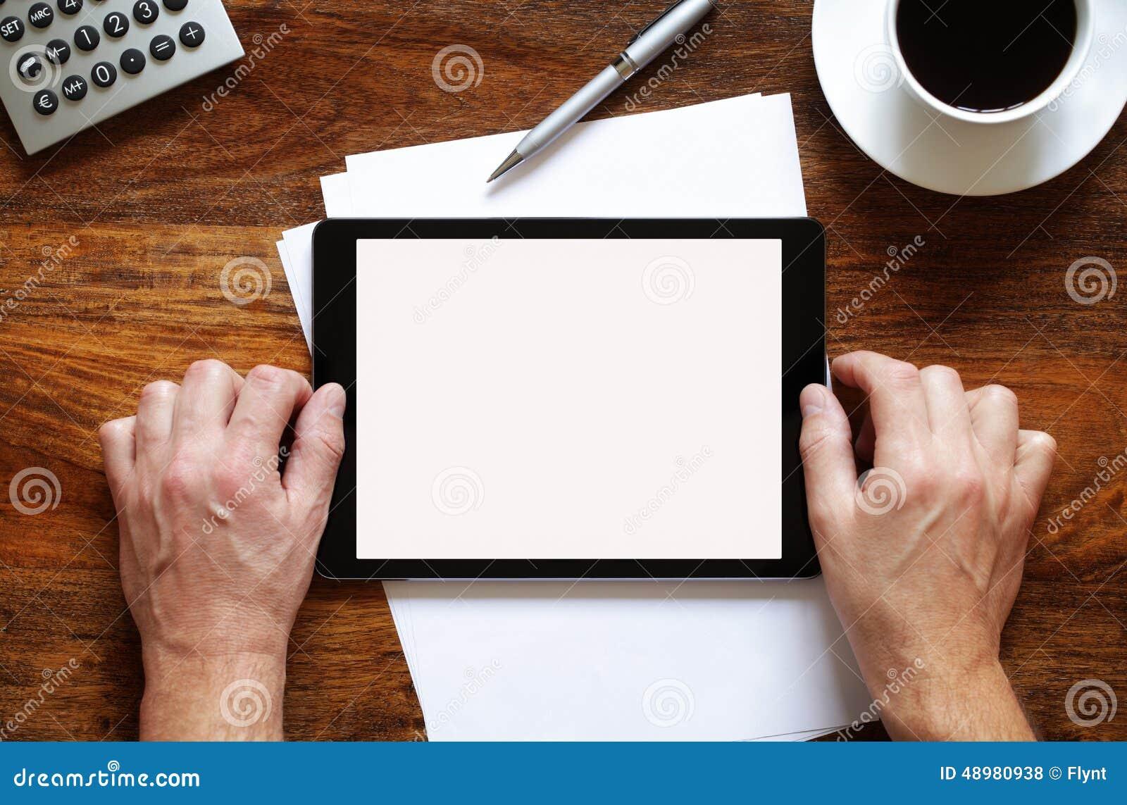 κενή ψηφιακή ταμπλέτα γραφείων