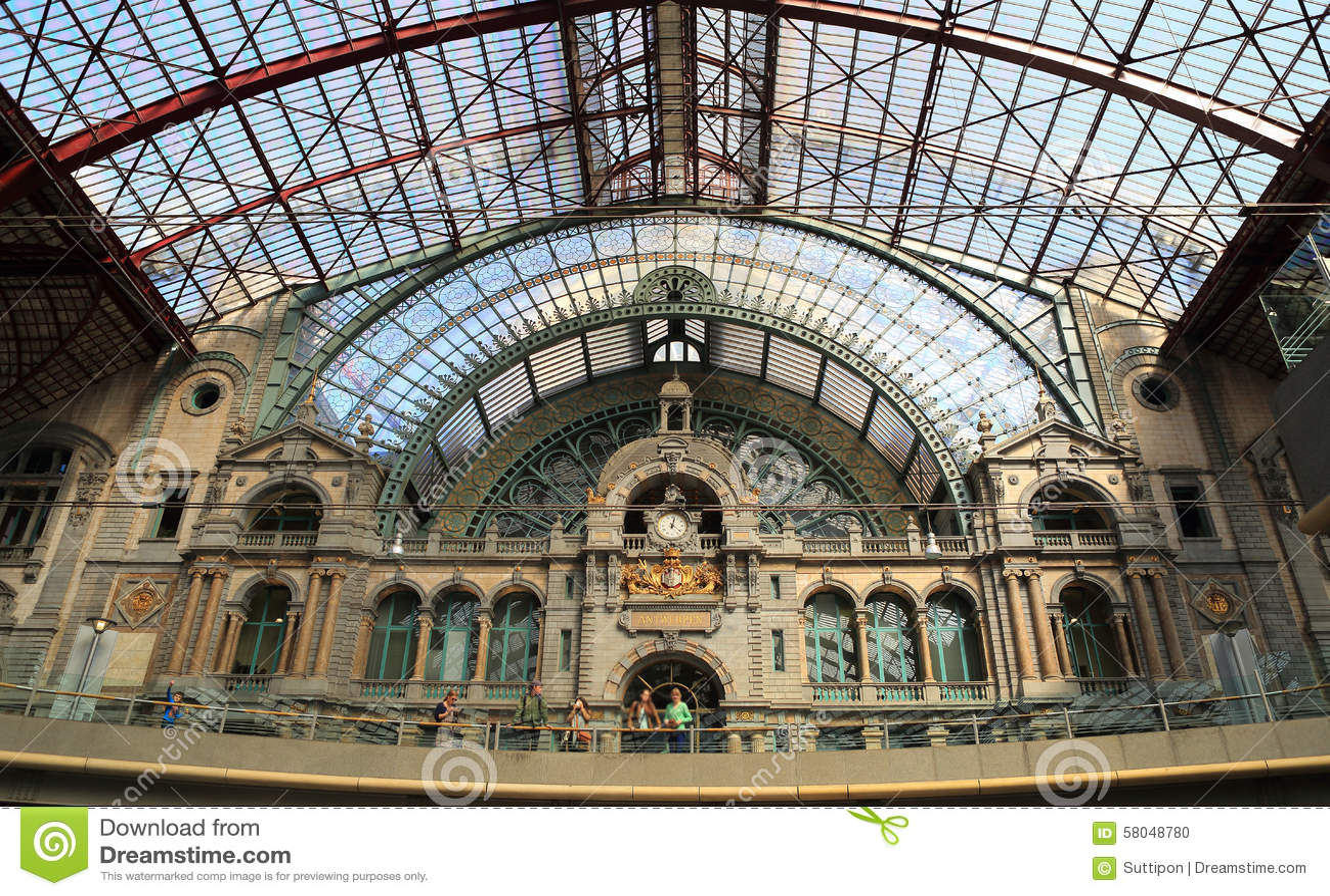 Κεντρικός σταθμός της Αμβέρσας στην Αμβέρσα, Βέλγιο