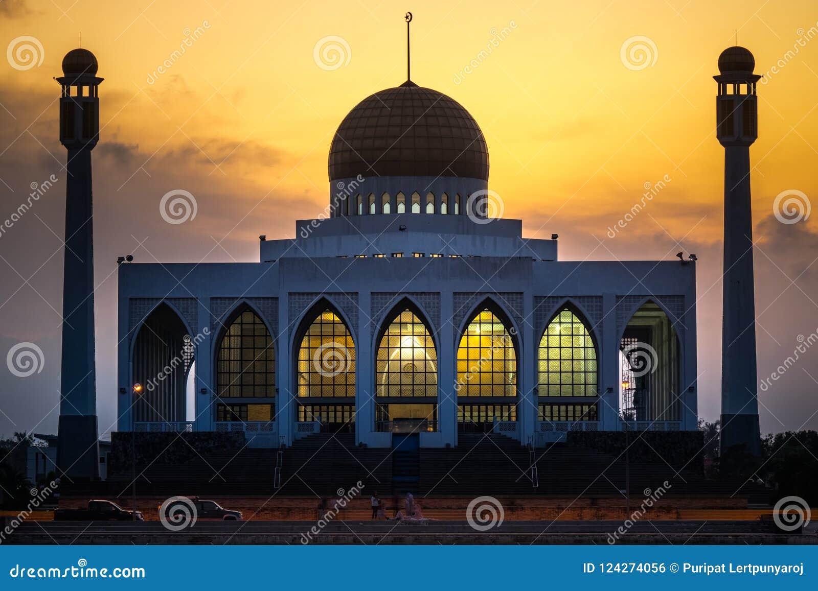 Κεντρικό μουσουλμανικό τέμενος, επαρχία Songkhla, νότια της Ταϊλάνδης