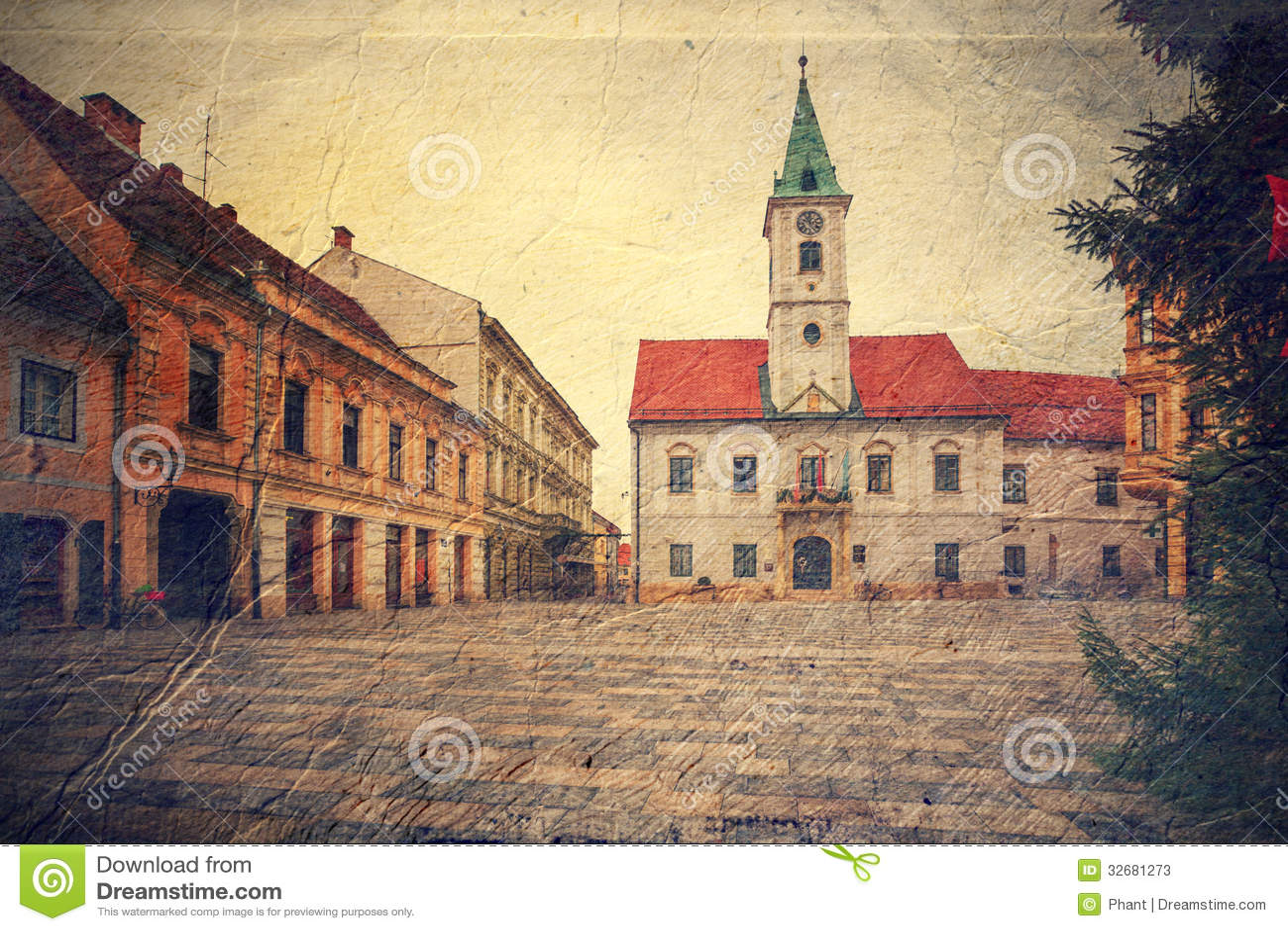 Κεντρικό τετράγωνο σε Varazdin