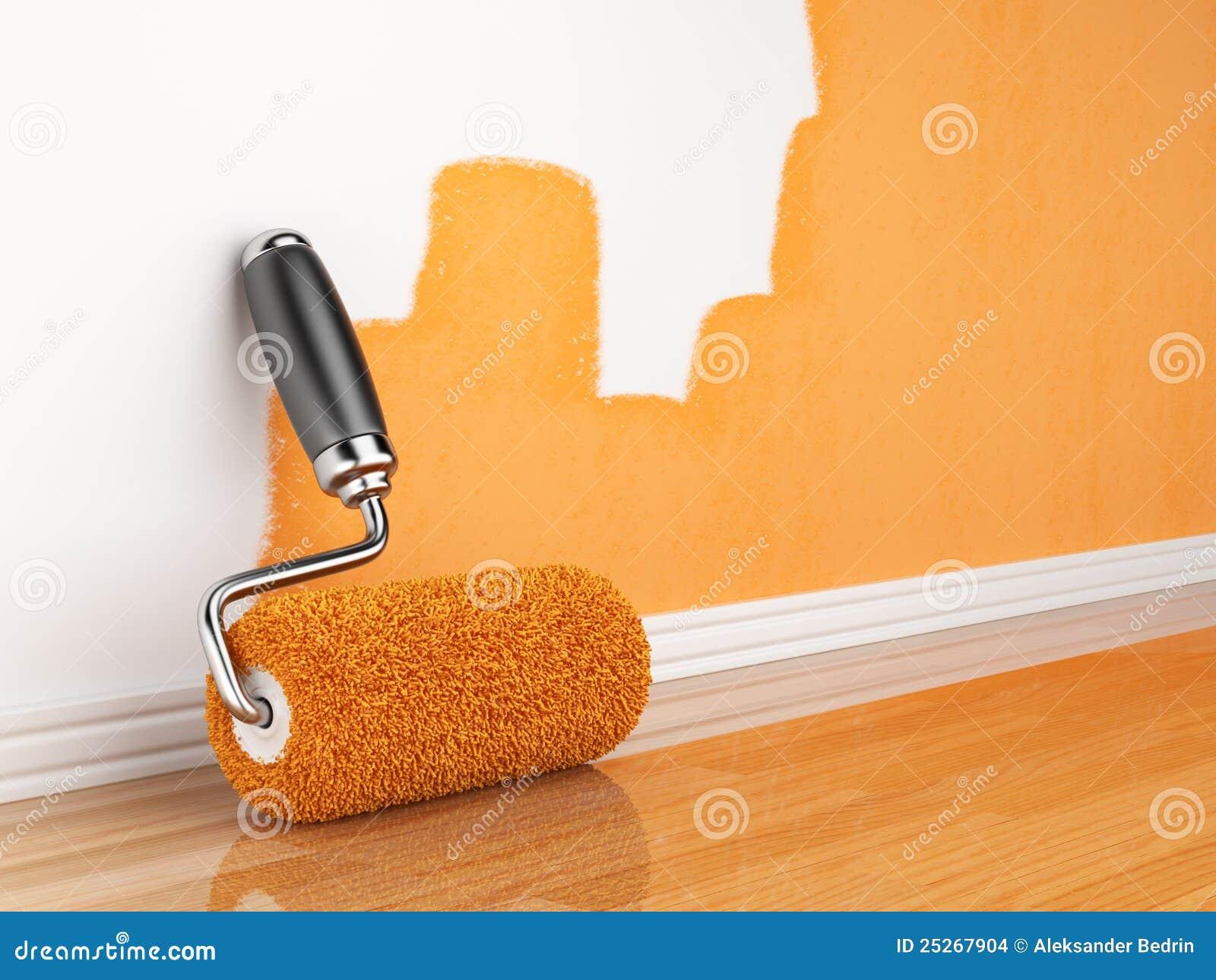 κενός τοίχος ανακαίνισης βασικής ζωγραφικής