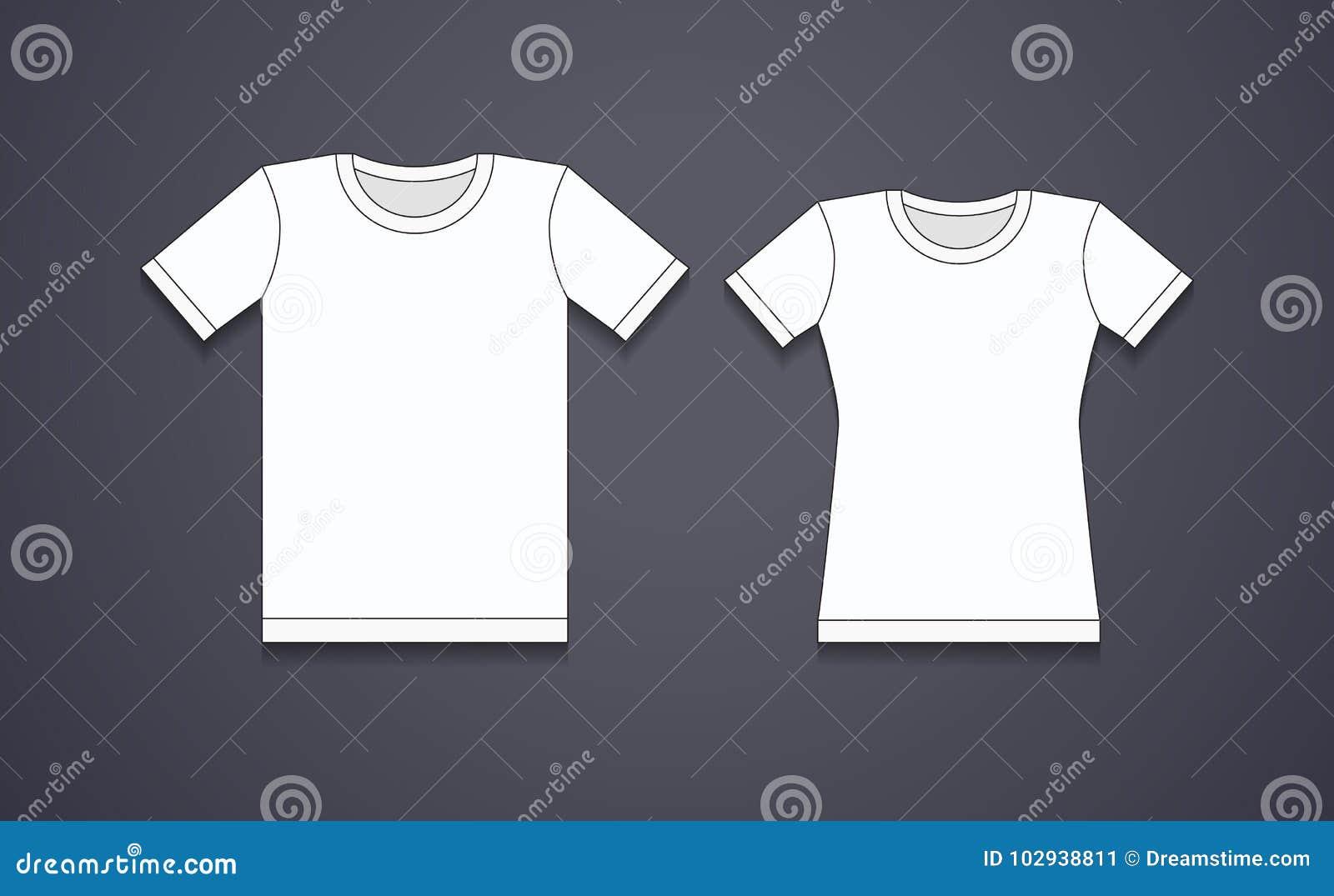 Κενό άσπρο πρότυπο μπλουζών