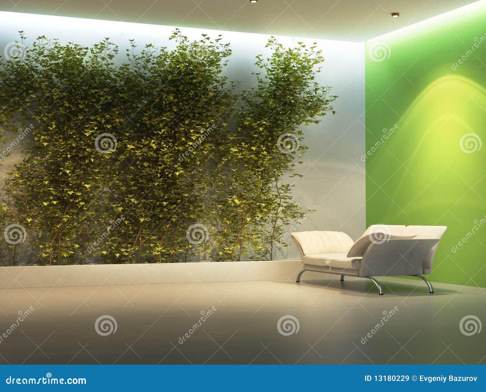 κενό εσωτερικό φυτό