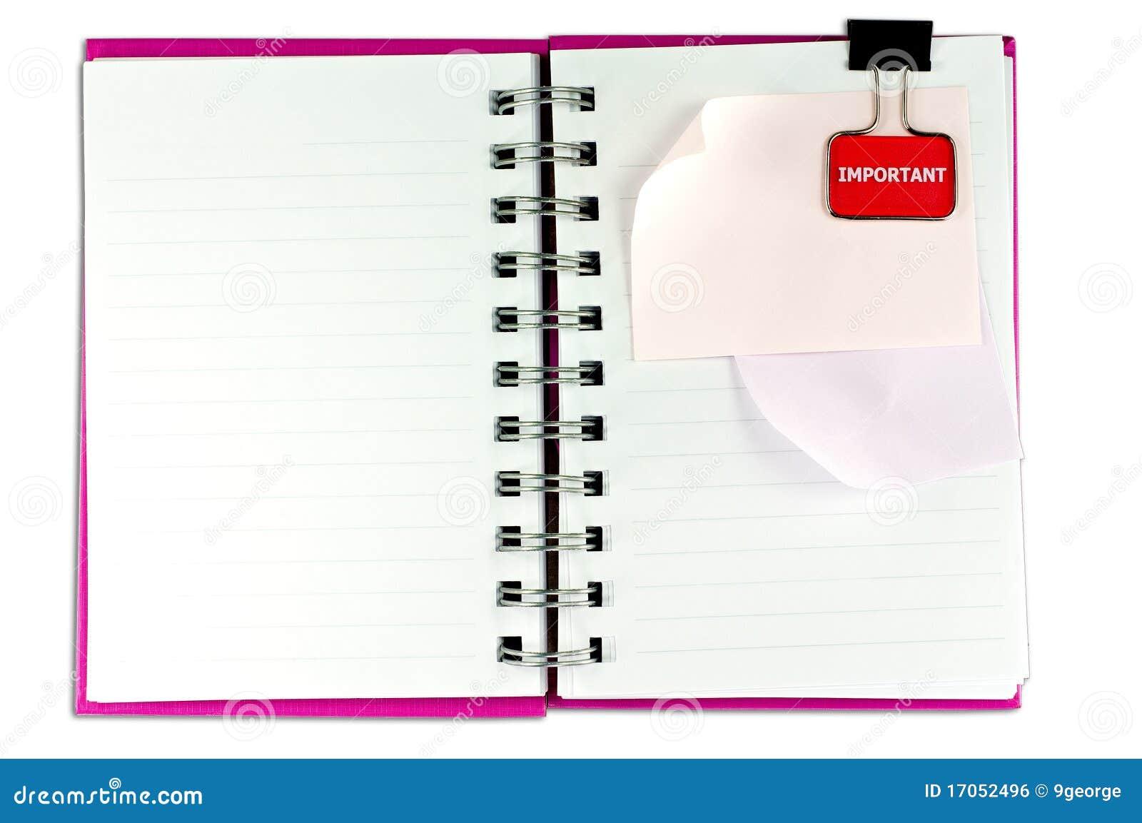 κενό σημειωματάριο ένα προ&