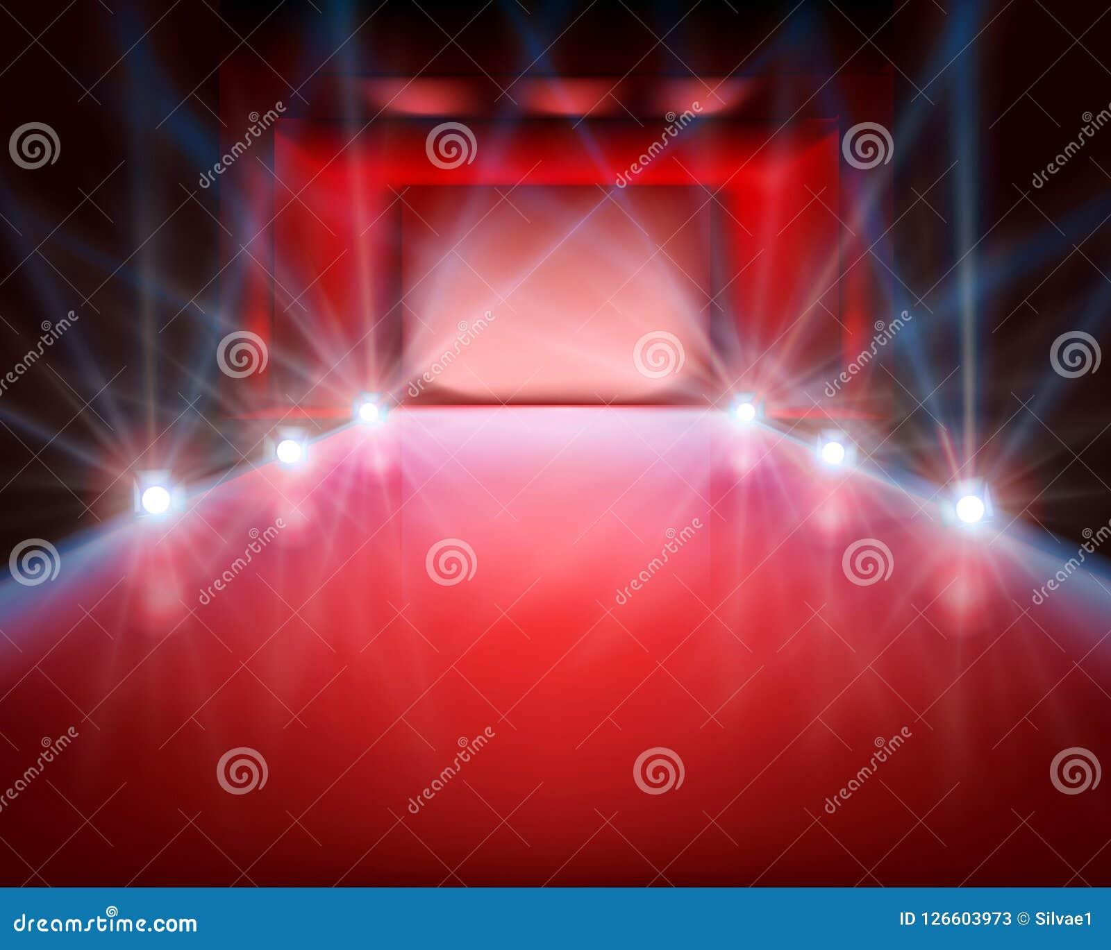Κενό στάδιο με τα φω τα επίσης corel σύρετε το διάνυσμα απεικόνισης