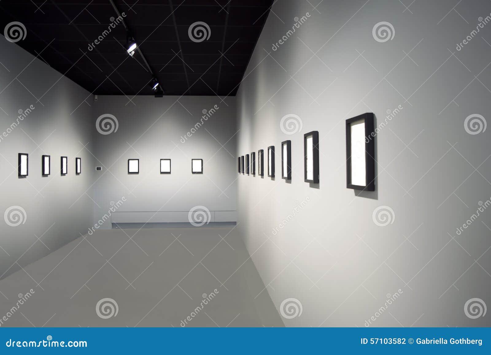 Κενό δωμάτιο έκθεσης τέχνης