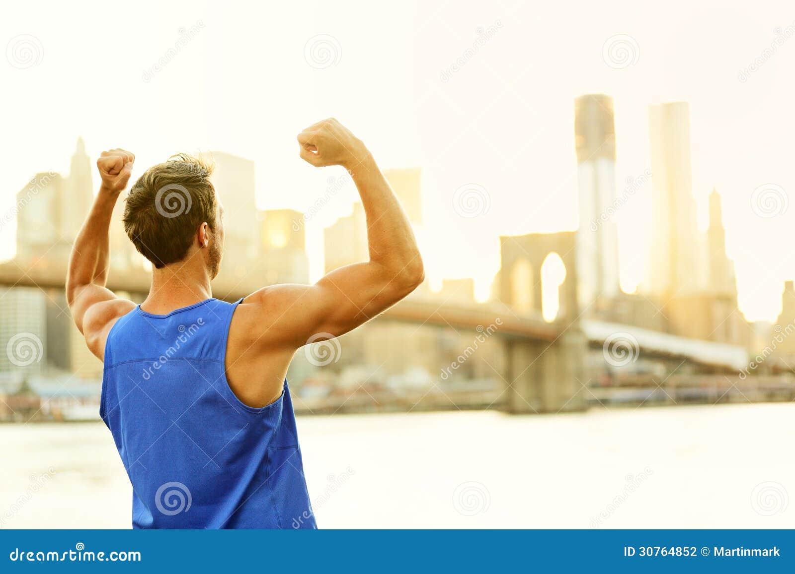 Κερδίζοντας ενθαρρυντικό άτομο ικανότητας επιτυχίας στη Νέα Υόρκη