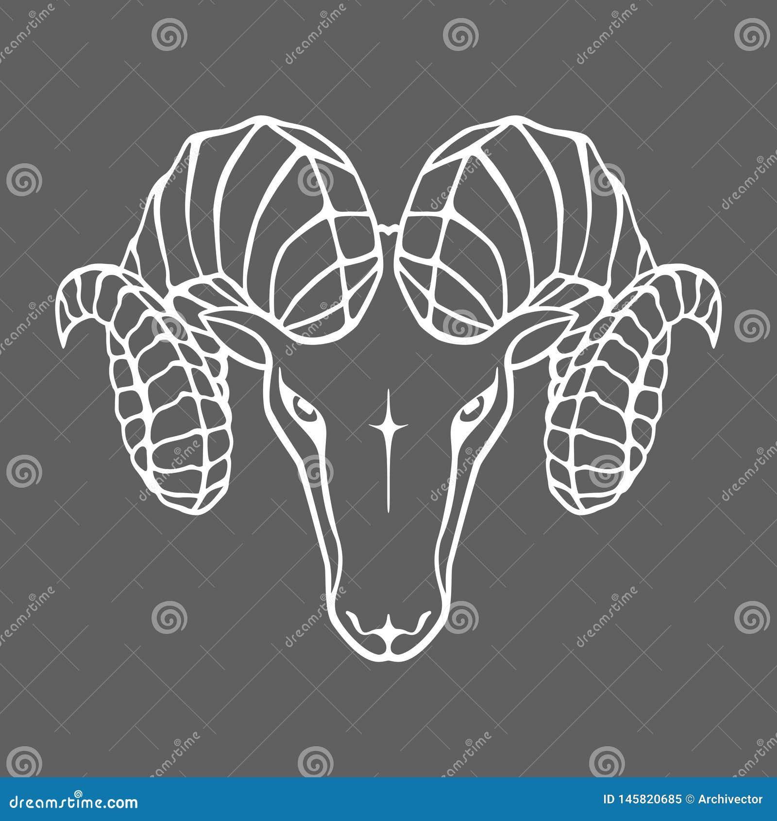 Κεφάλι κριού Σημάδι Aries