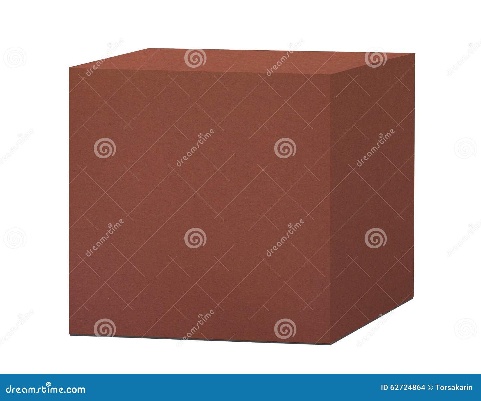Κιβώτιο καφετιού εγγράφου που απομονώνεται