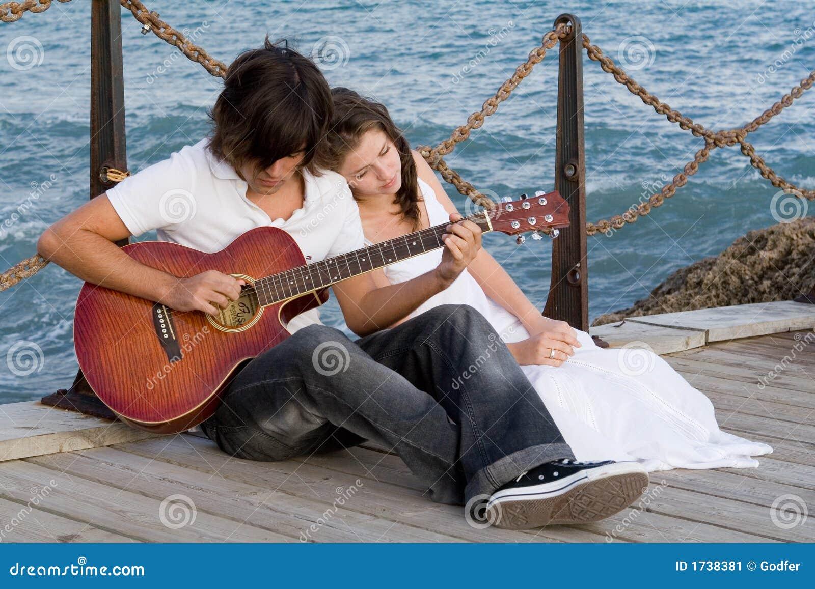 κιθάρα ζευγών ρομαντική
