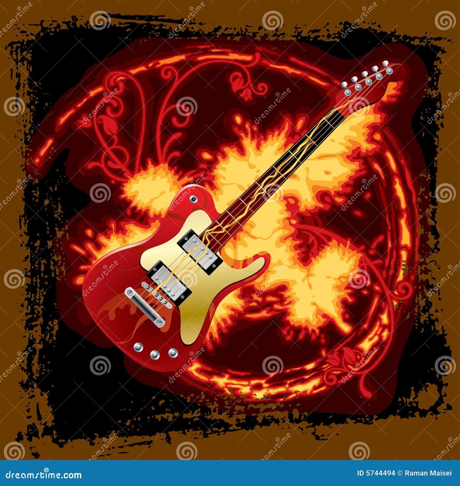 κιθάρα ηλεκτρικής πυρκαγιάς