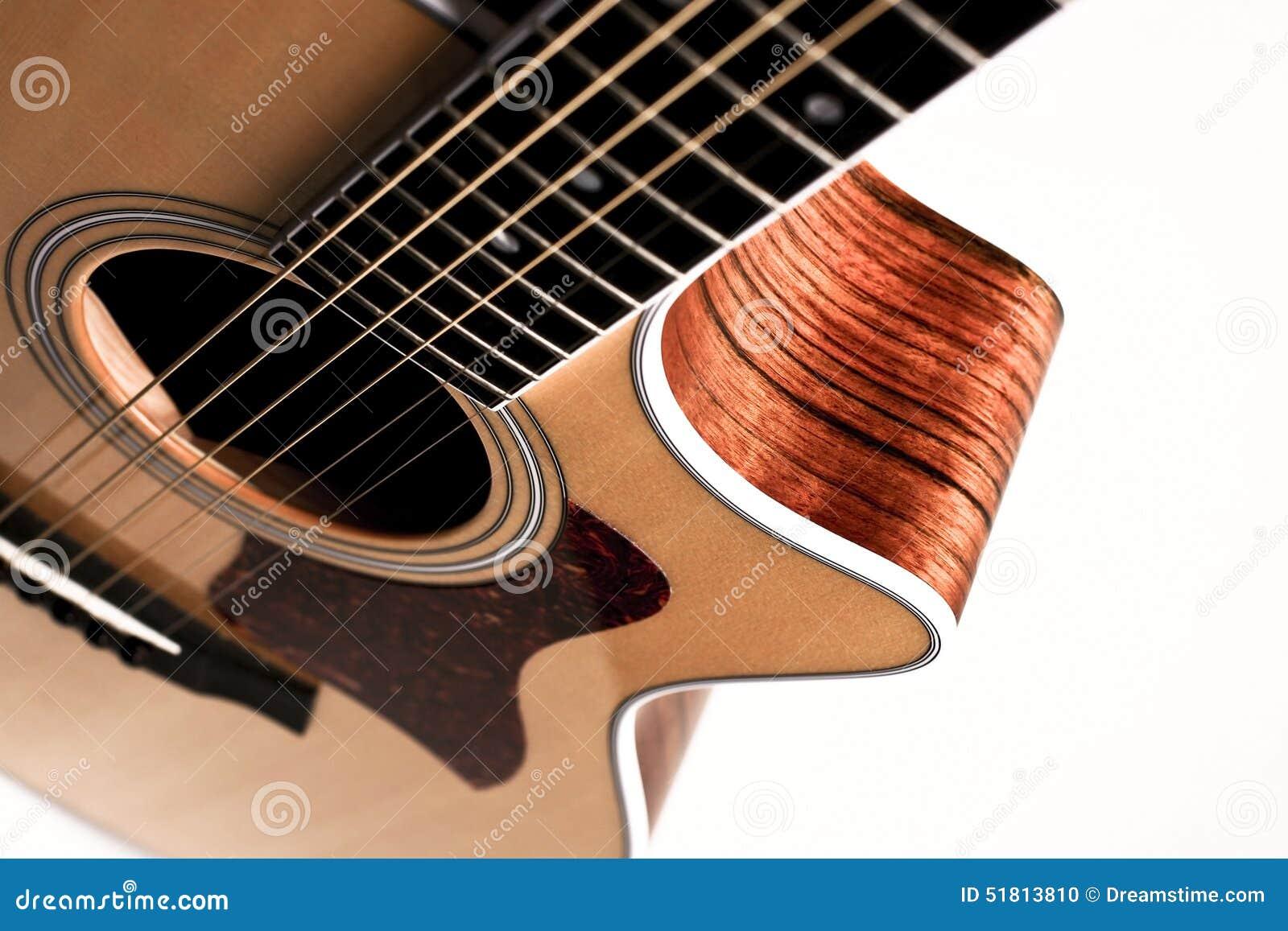 Κιθάρα στο άσπρο υπόβαθρο