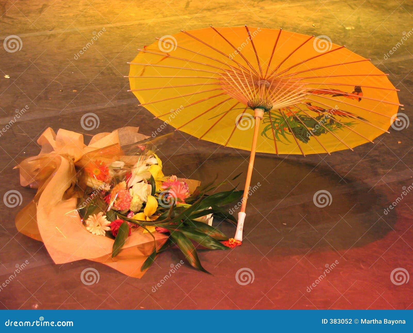 κινεζική ομπρέλα λουλουδιών