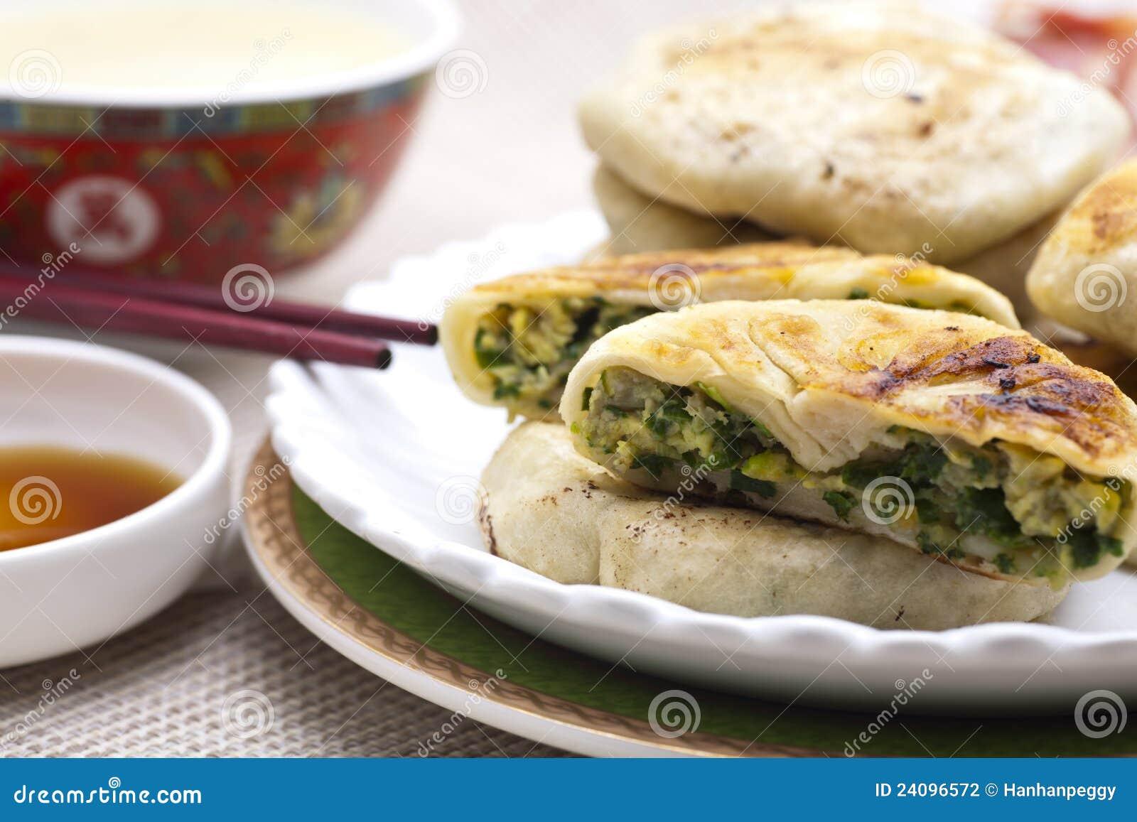 κινεζική πίτα πράσων τροφίμων