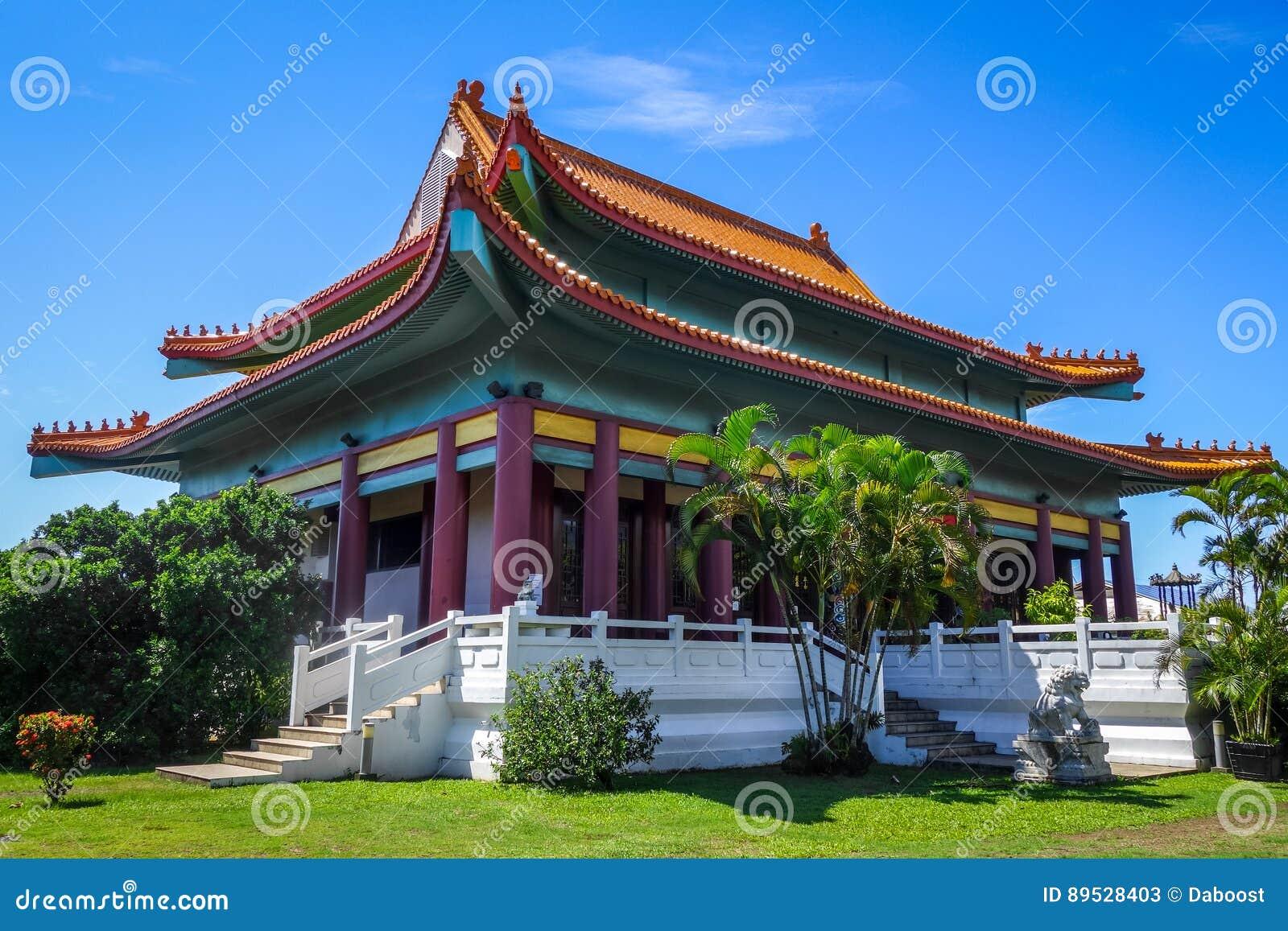 Κινεζικός ναός σε Papeete στο νησί της Ταϊτή