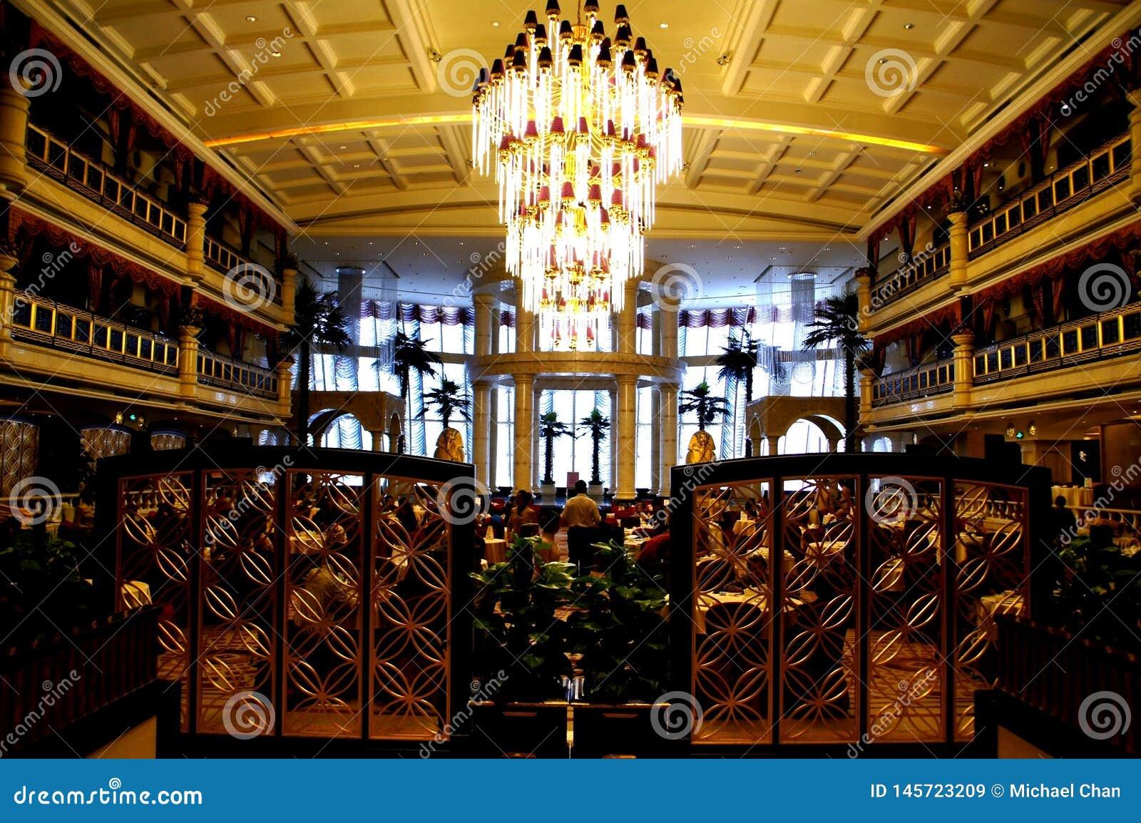 Κινεζικό εστιατόριο, βασιλικό μεσογειακό ξενοδοχείο Guangzhou