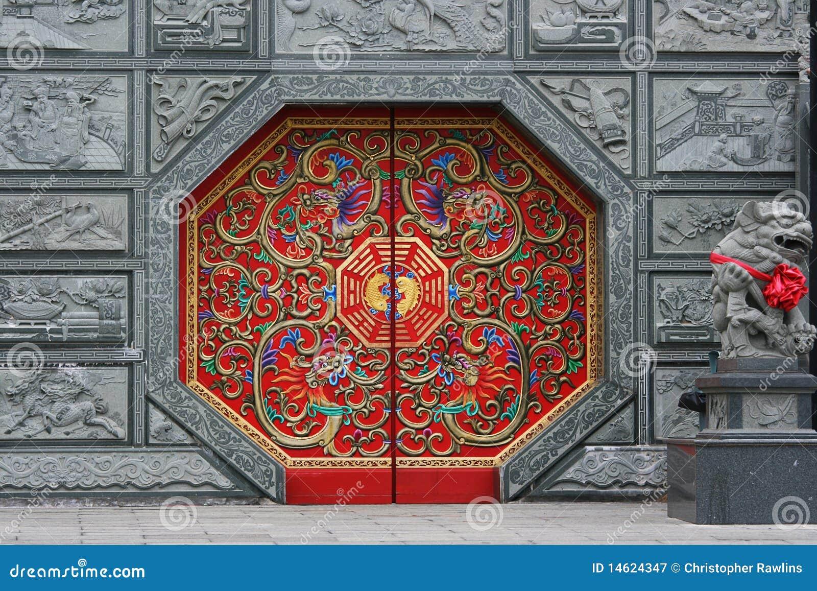 κινεζικό κόκκινο πορτών