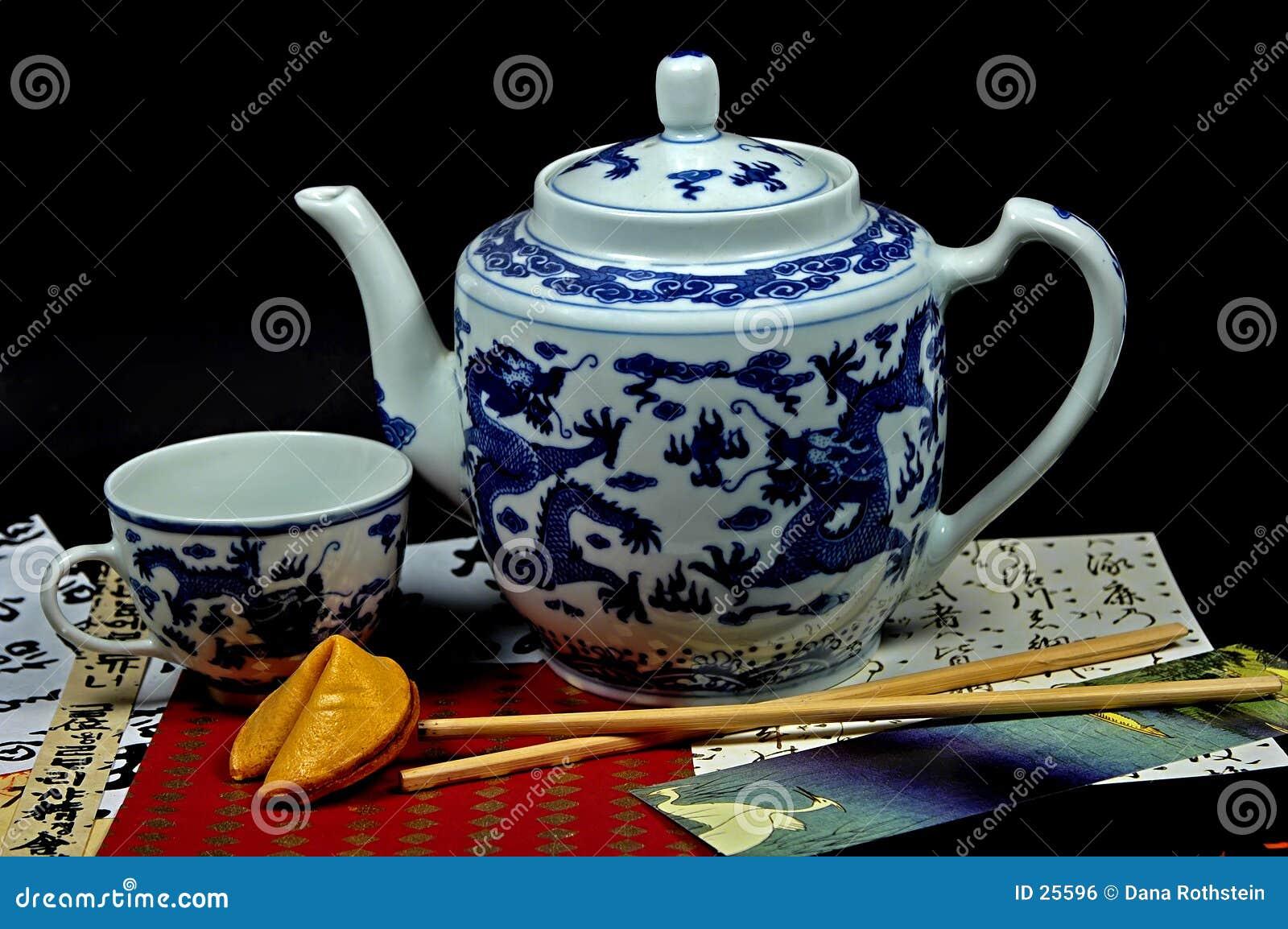Download κινεζικό τσάι στοκ εικόνες. εικόνα από τσάι, δράκος, γράψιμο - 25596