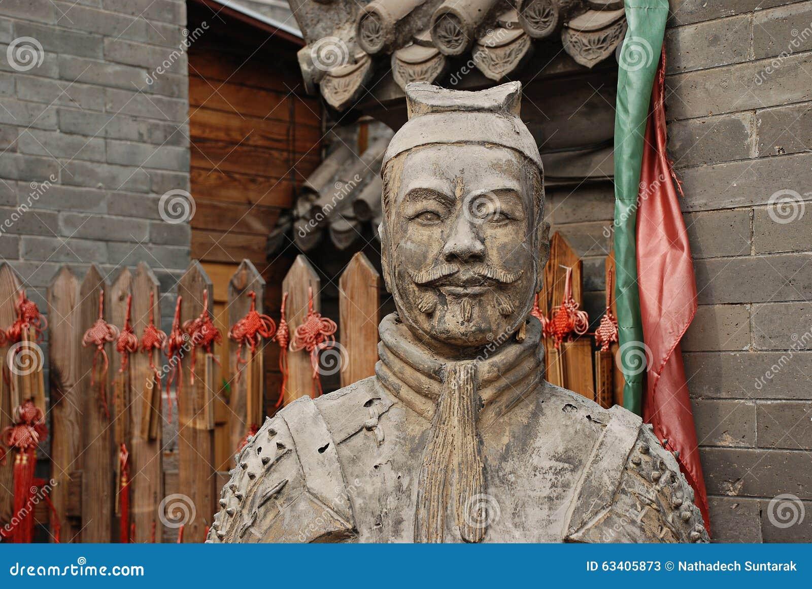 Κινεζικό warior αγαλμάτων